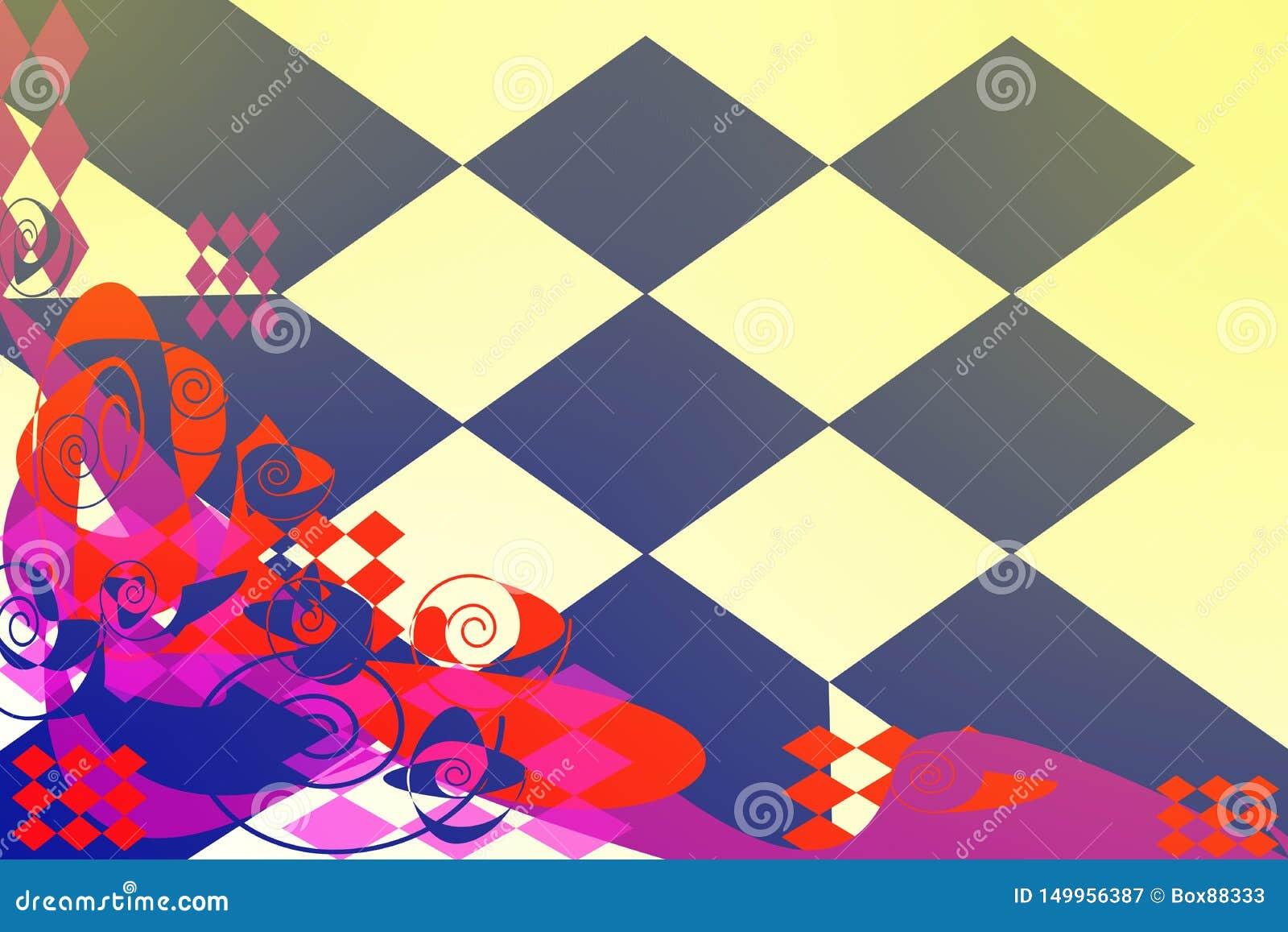 Modèle abstrait avec les éléments multicolores sur un fond clair