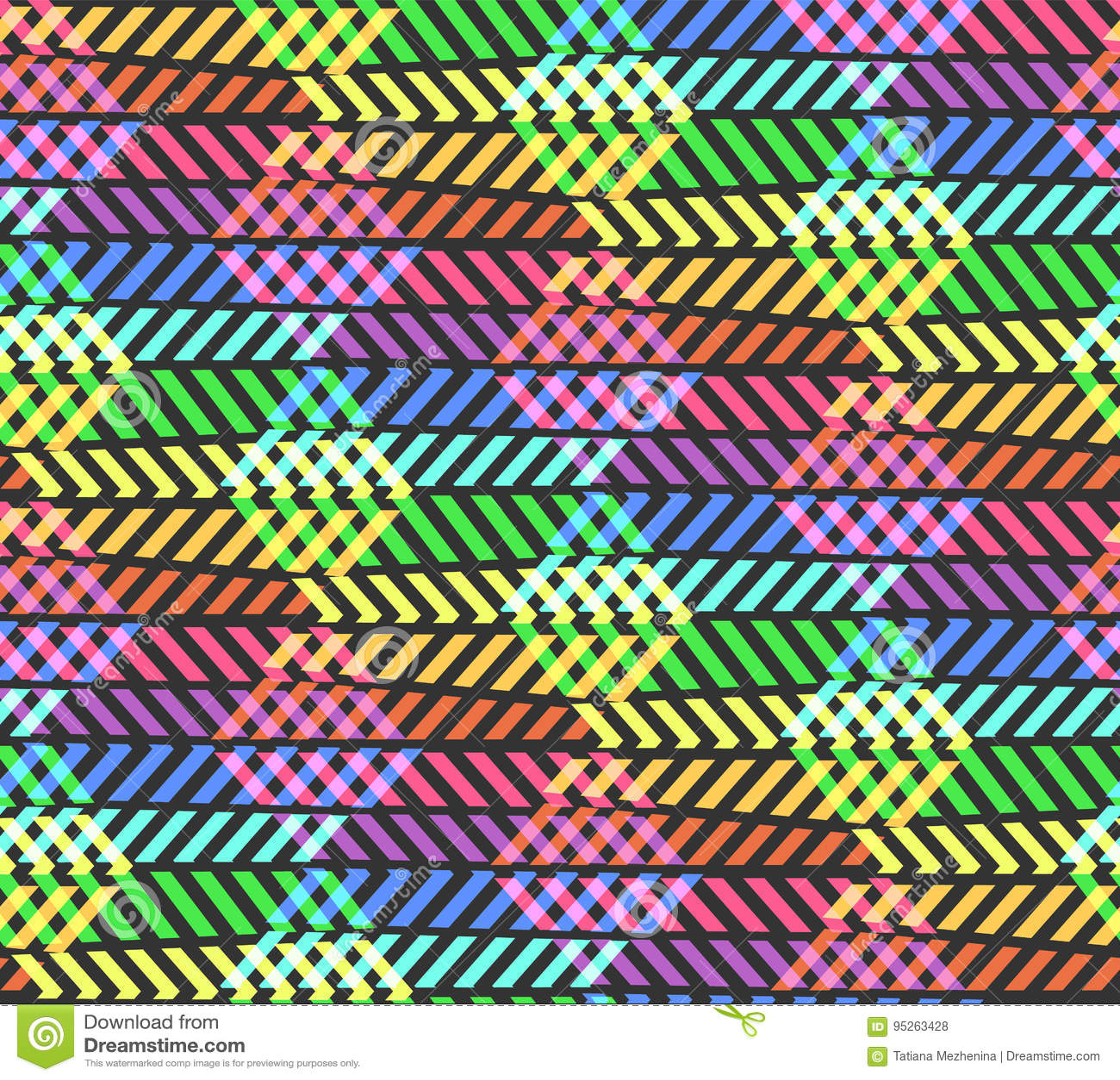 Modèle abstrait d arc-en-ciel de zigzag de coupure avec le losange