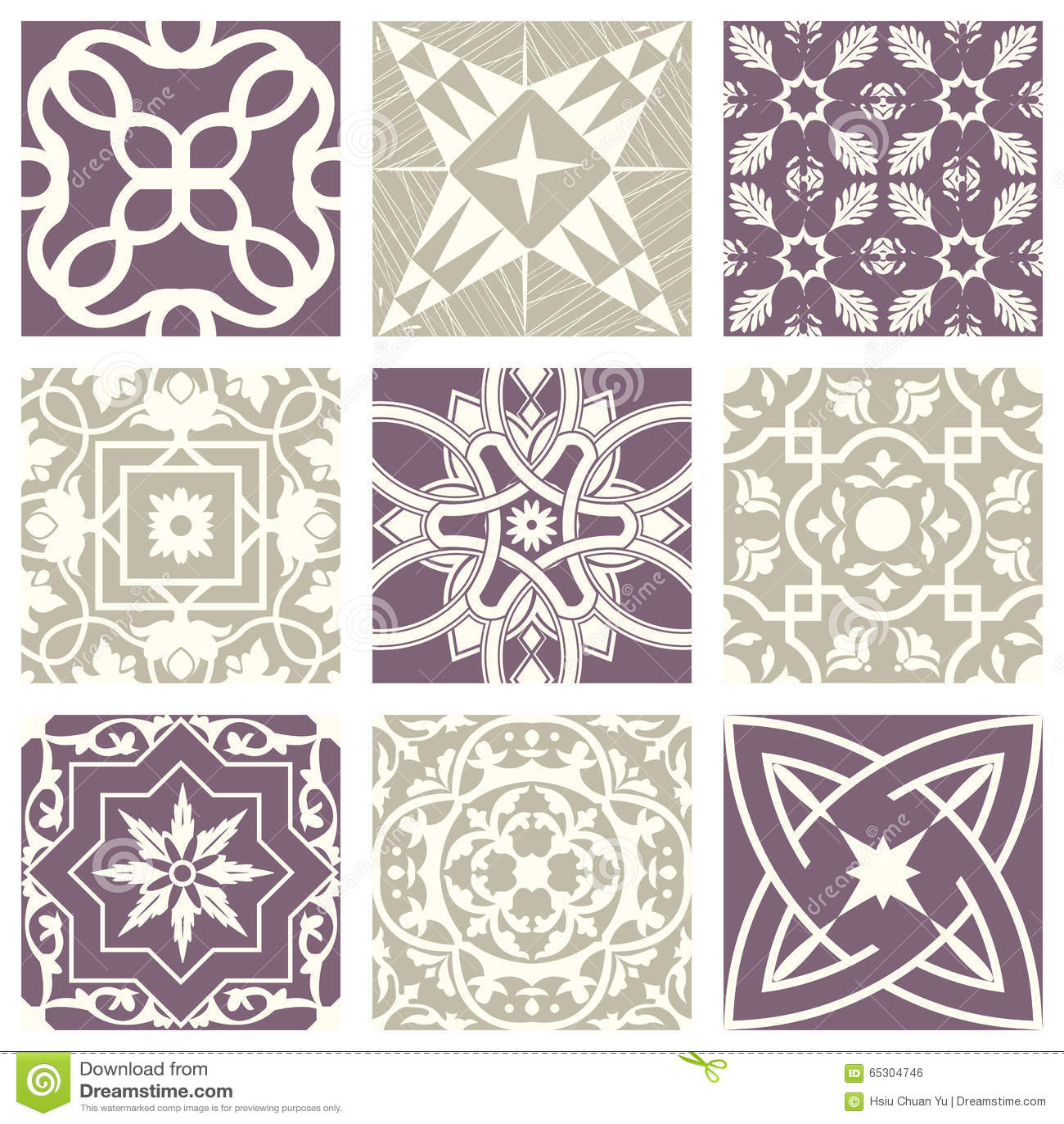 Modèle abstrait sans couture violet en pastel élégant 28 de vintage classique