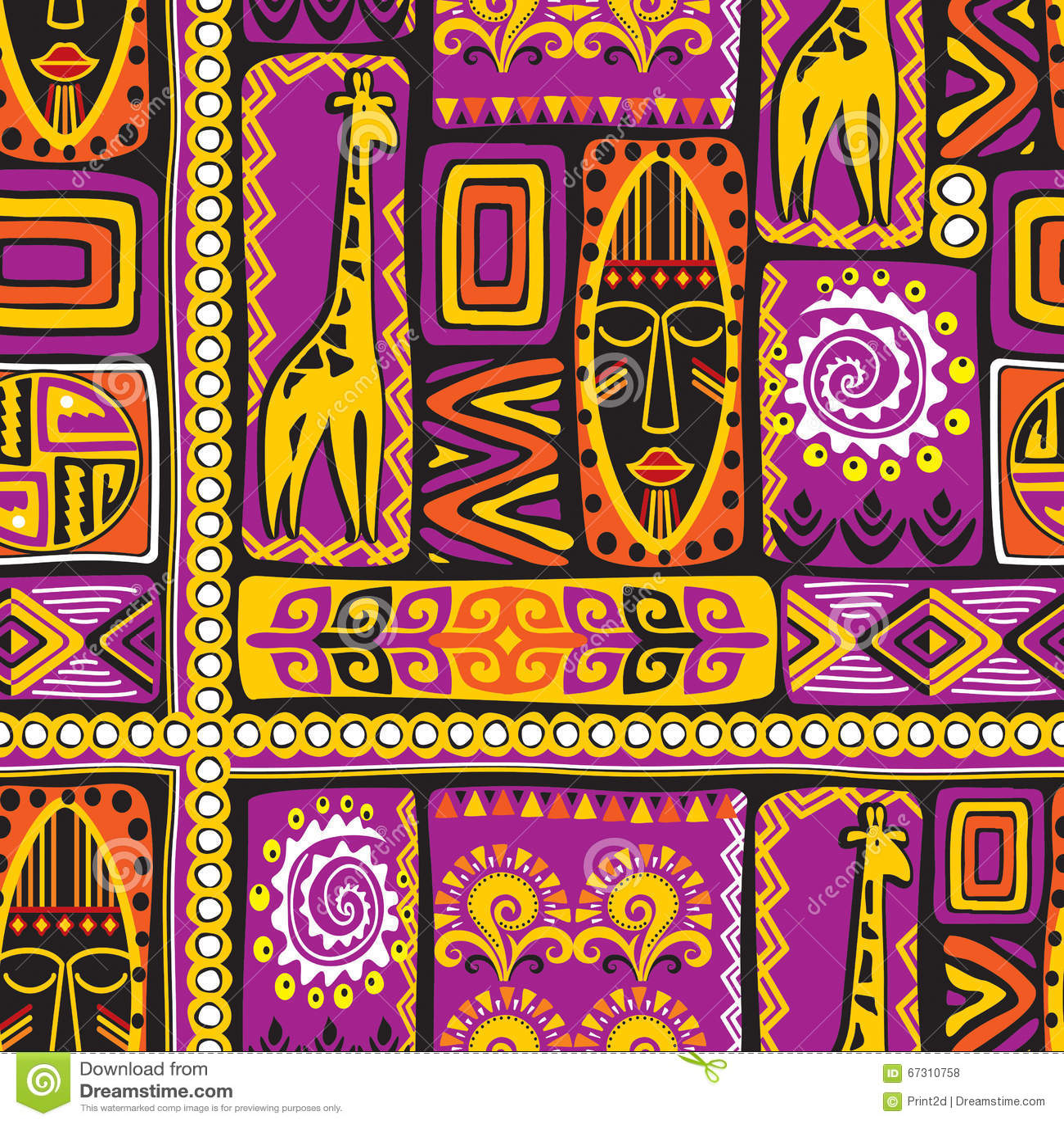 Modèle afrikan violet