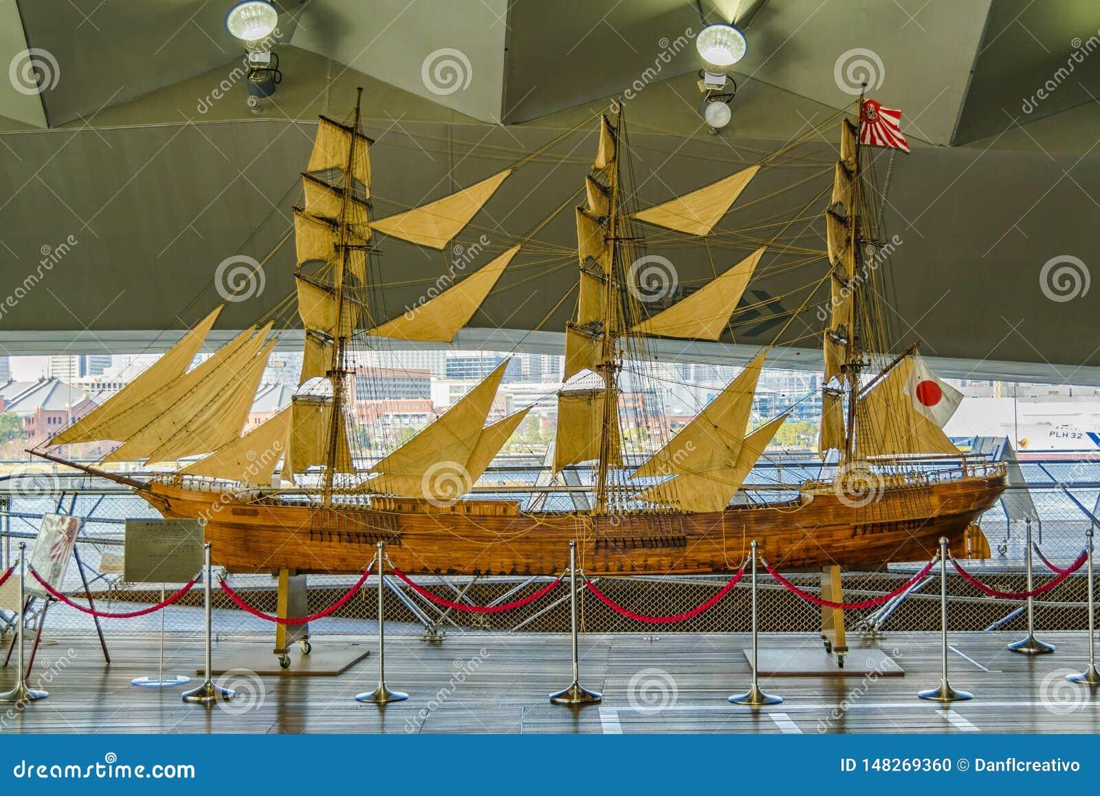 Modèle antique japonais de bateau