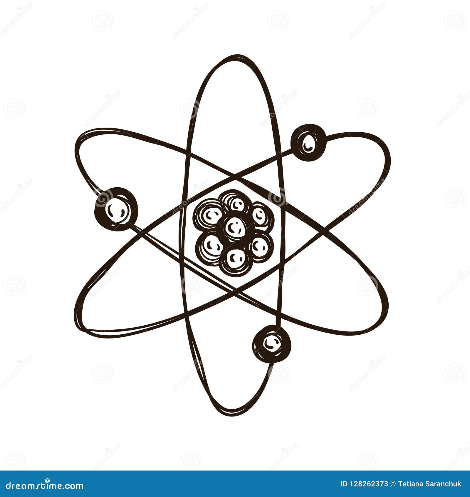 Modèle Atomique Livre De Coloriage Pour Des Adultes Illustration ...