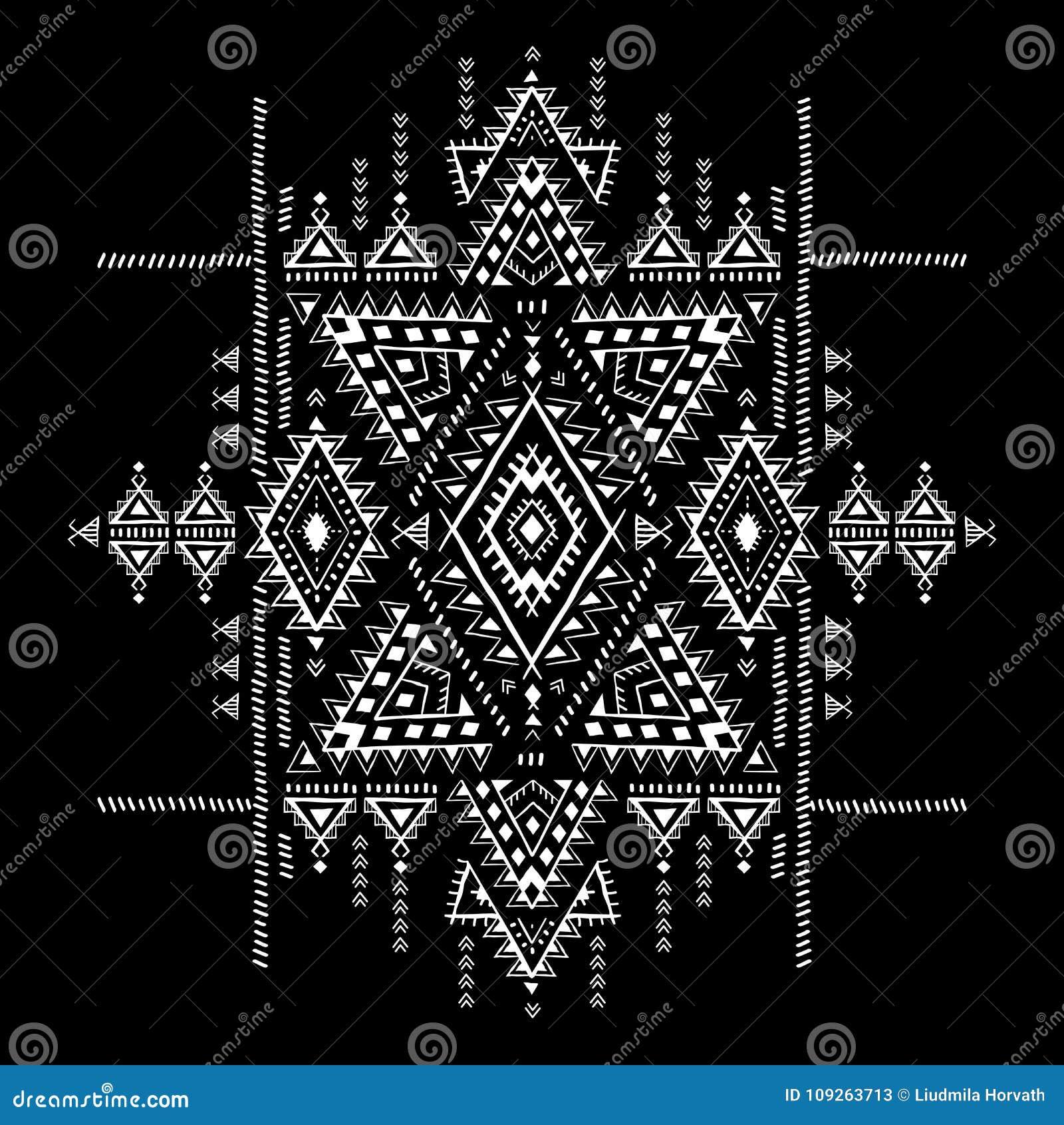 Modele Azteque Geometrique Le Style Tribal De Tatouage Peut Etre