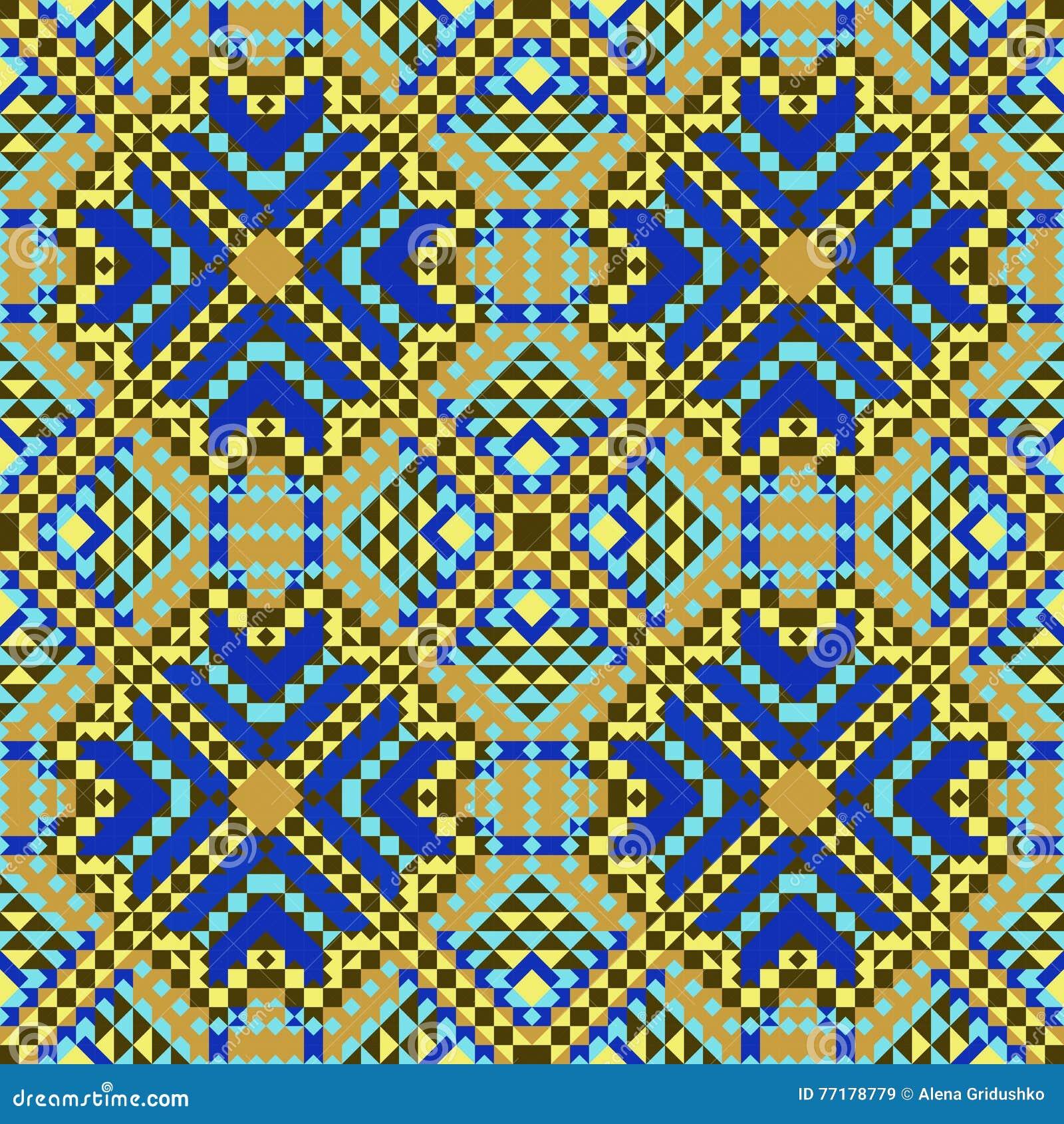 Mod le azt que sans couture pour imprimer sur le papier ou le tissu motifs mexicains - Imprimer photo sur tissu ...