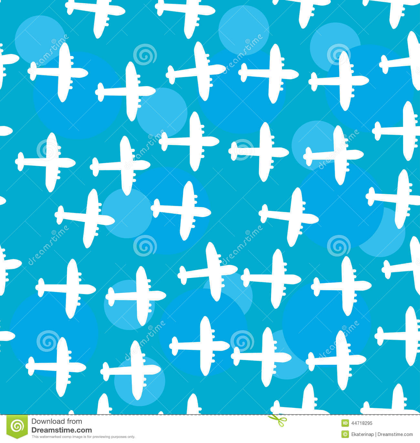 Modèle blanc sans couture avec des silhouettes de l avion Ciel bleu b