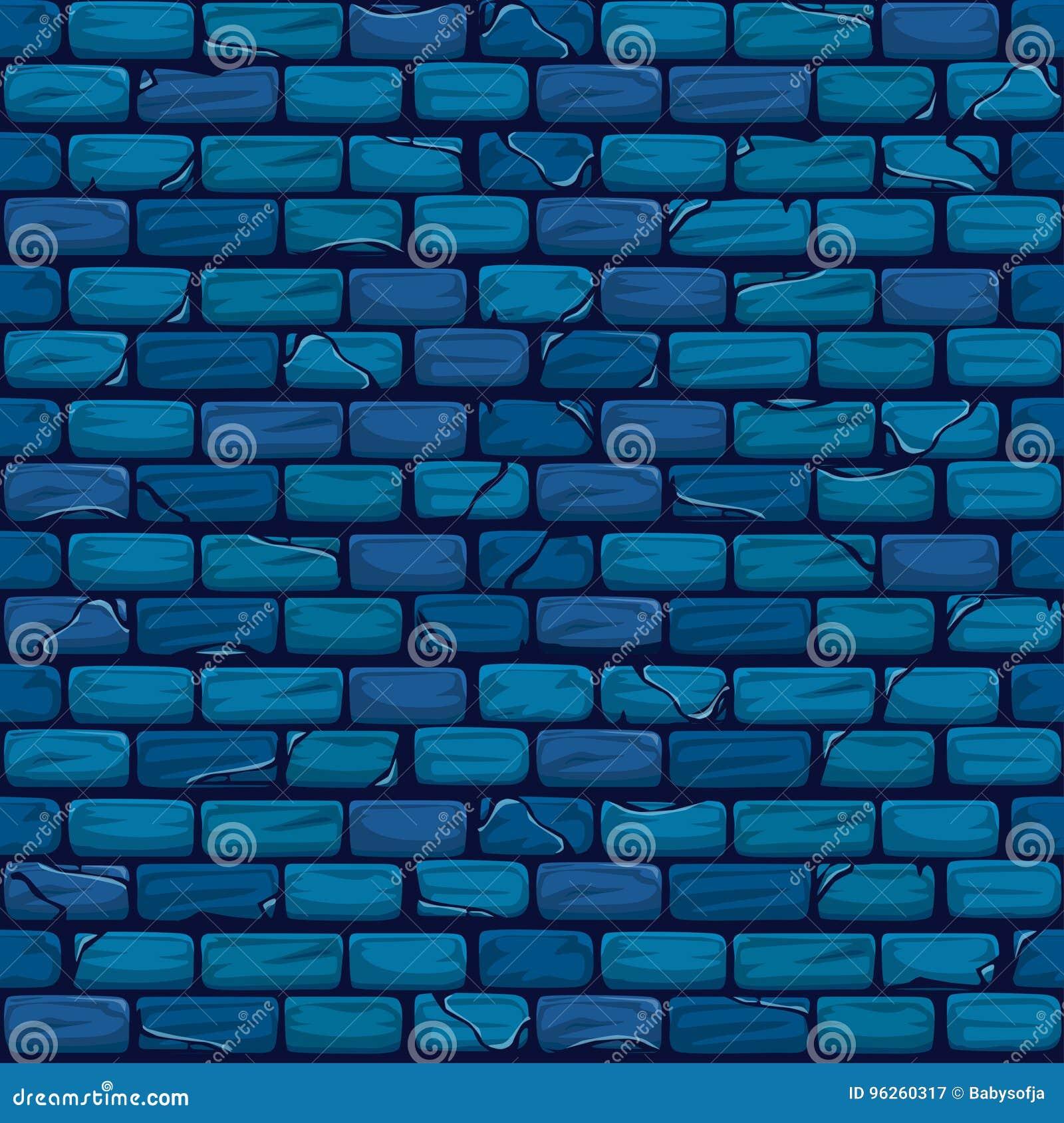 Modèle bleu sans couture de texture de fond de mur de briques