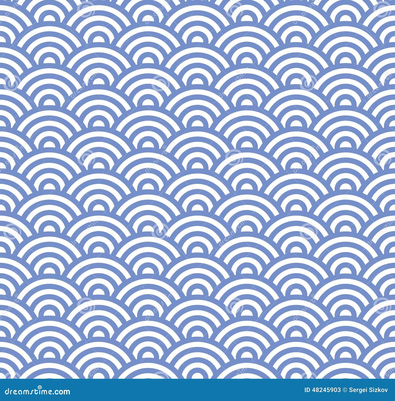 Modèle bleu sans couture de vague Vecteur