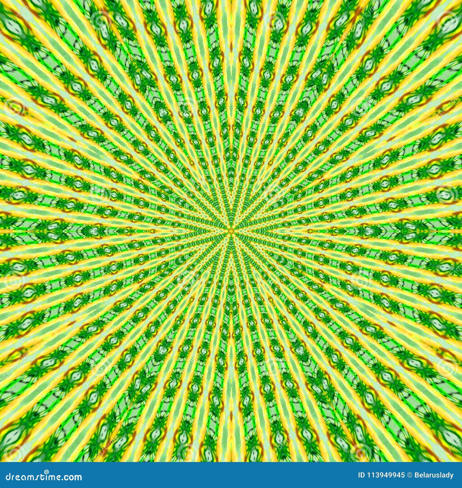 Modèle circulaire dans le style grunge et les couleurs vertes modèle rayé