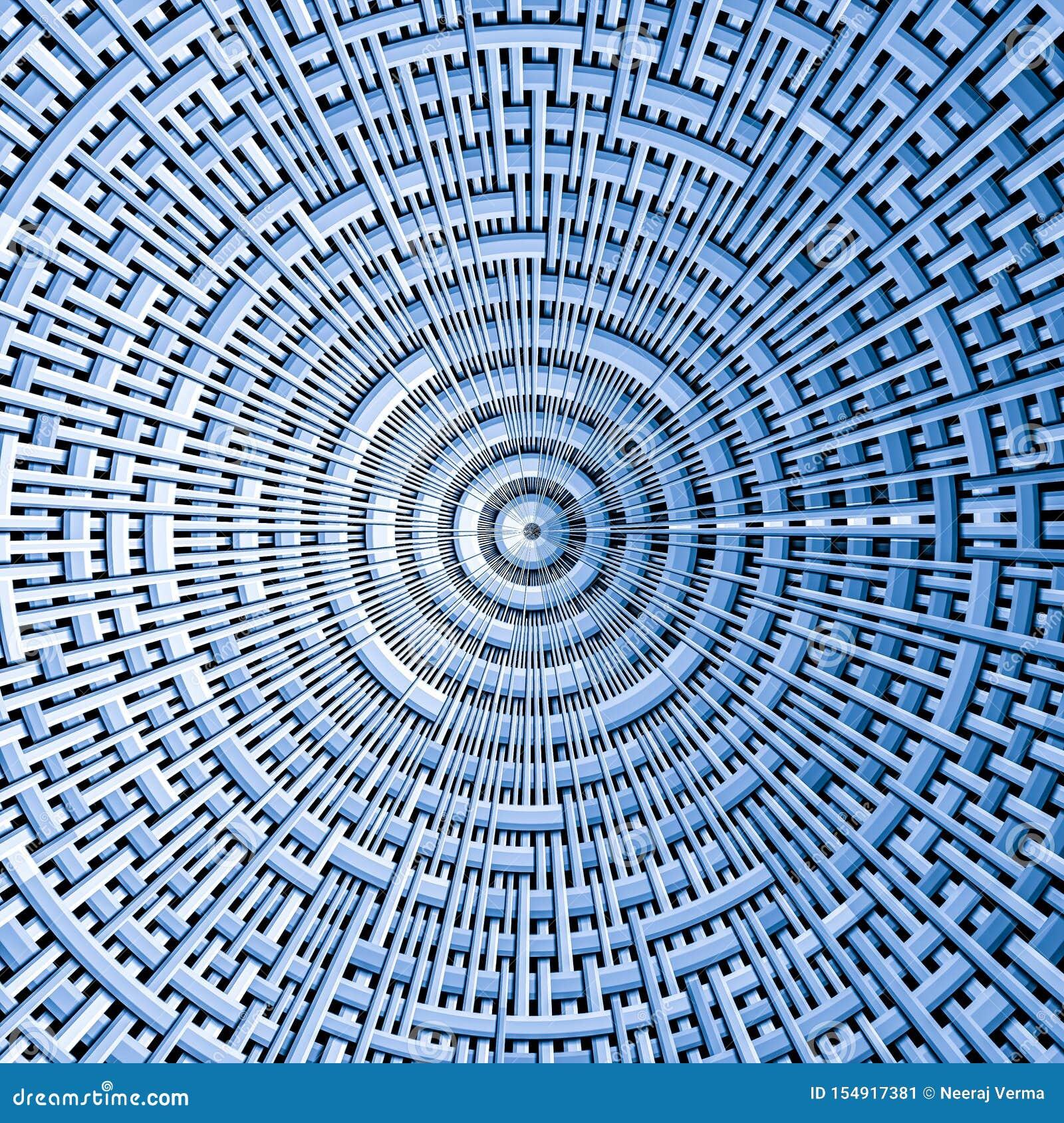 Modèle circulaire de tissu