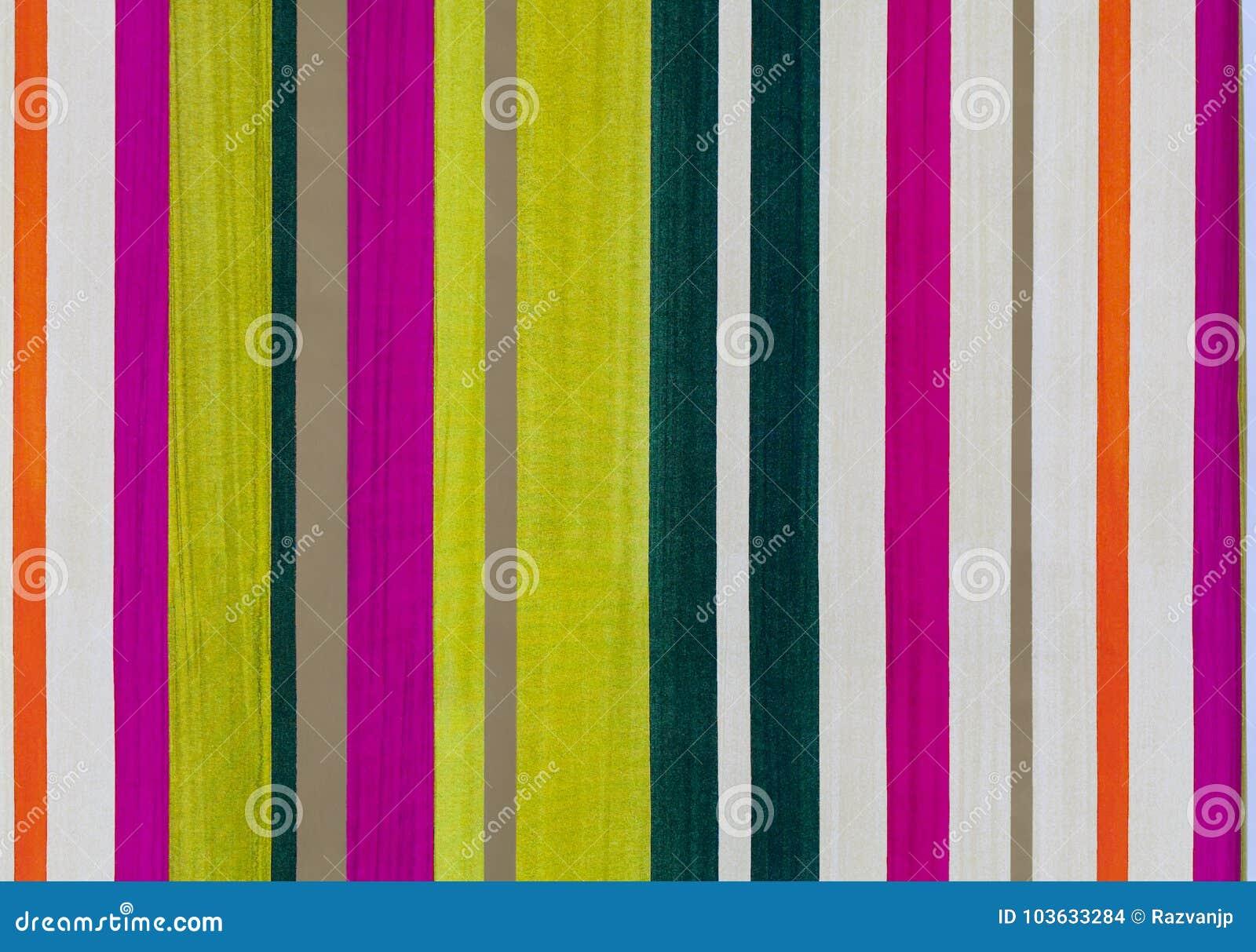 Modèle coloré de papier rayé