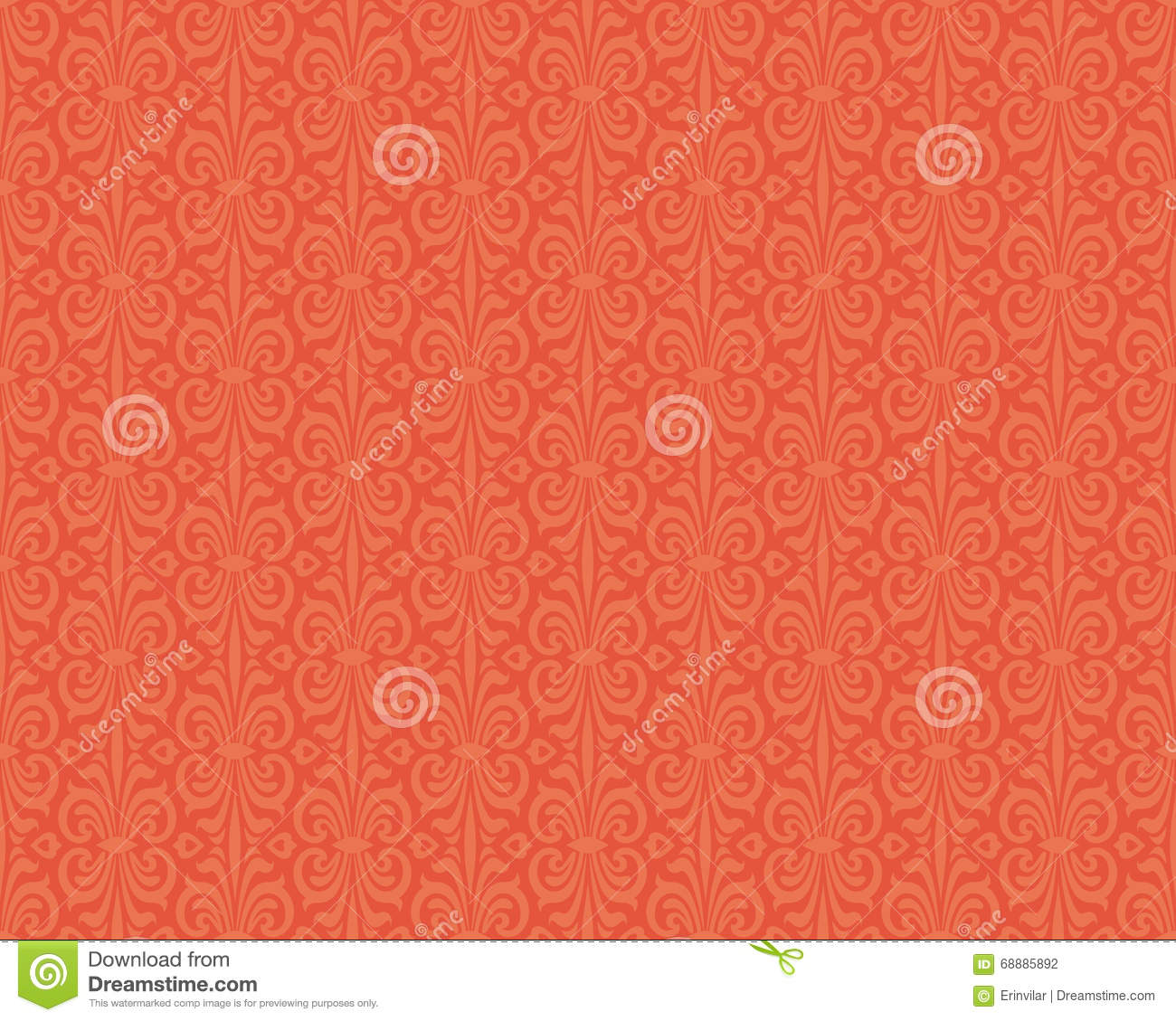 Modele Colore Orange De Fond De Papier Peint De Vintage De Retro