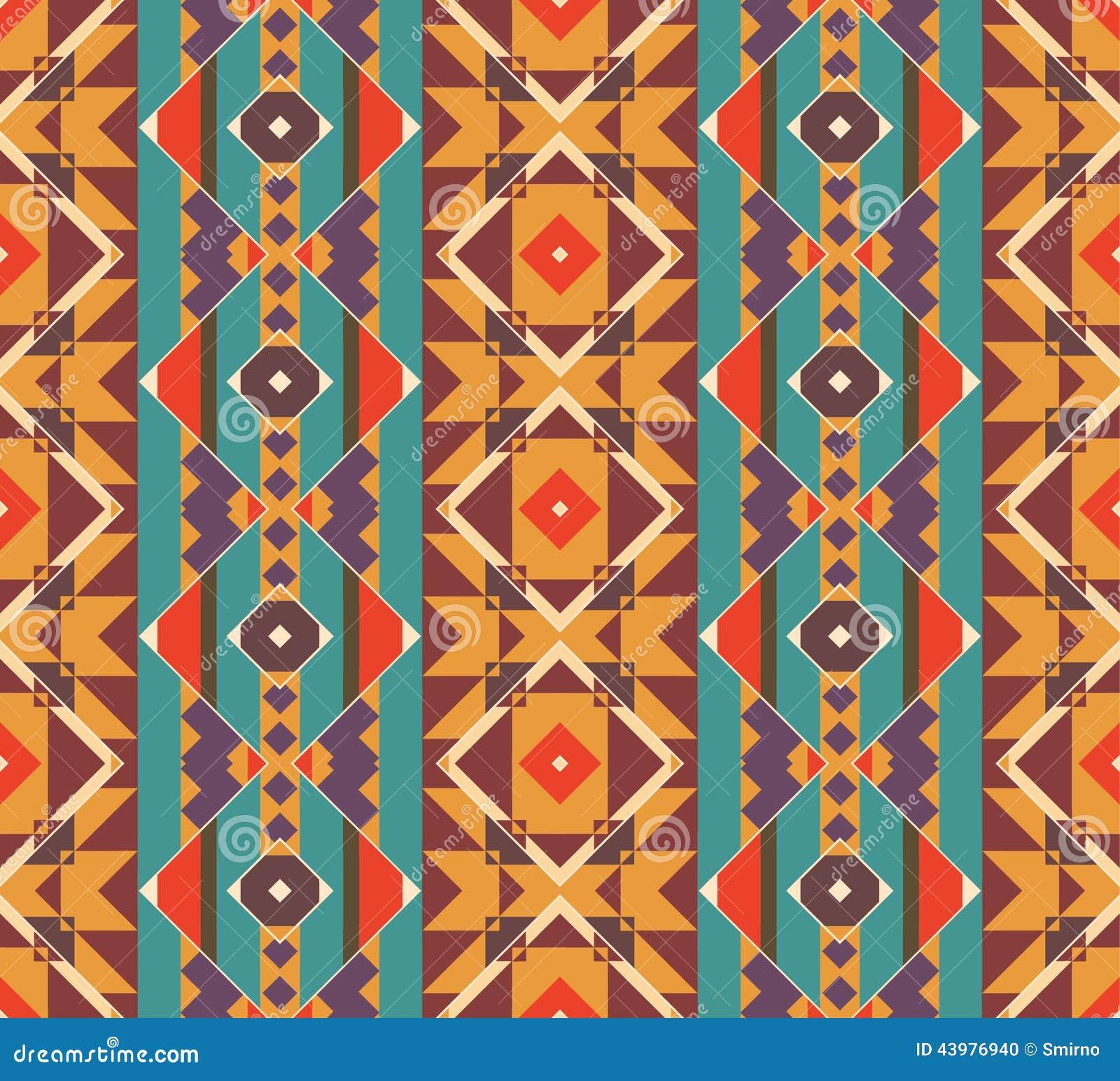 Modèle coloré sans couture de Navajo