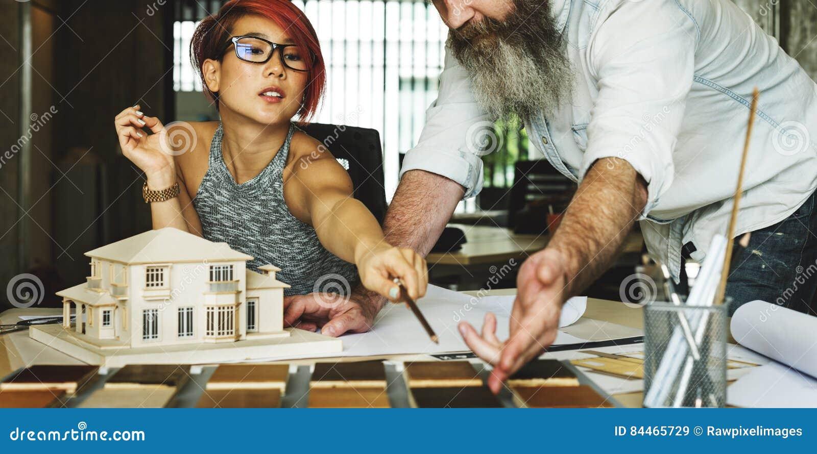 Modèle Concept de Creative Occupation House d architecte de studio de conception