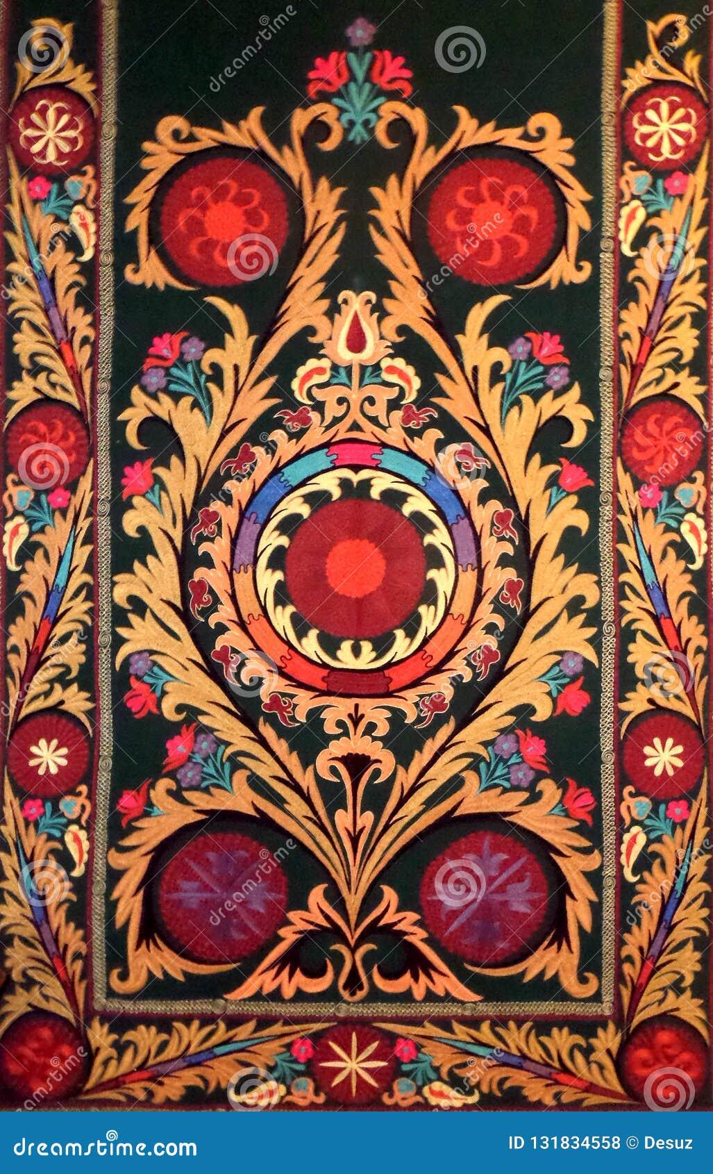 Modèle décoratif arabe oriental de broderie