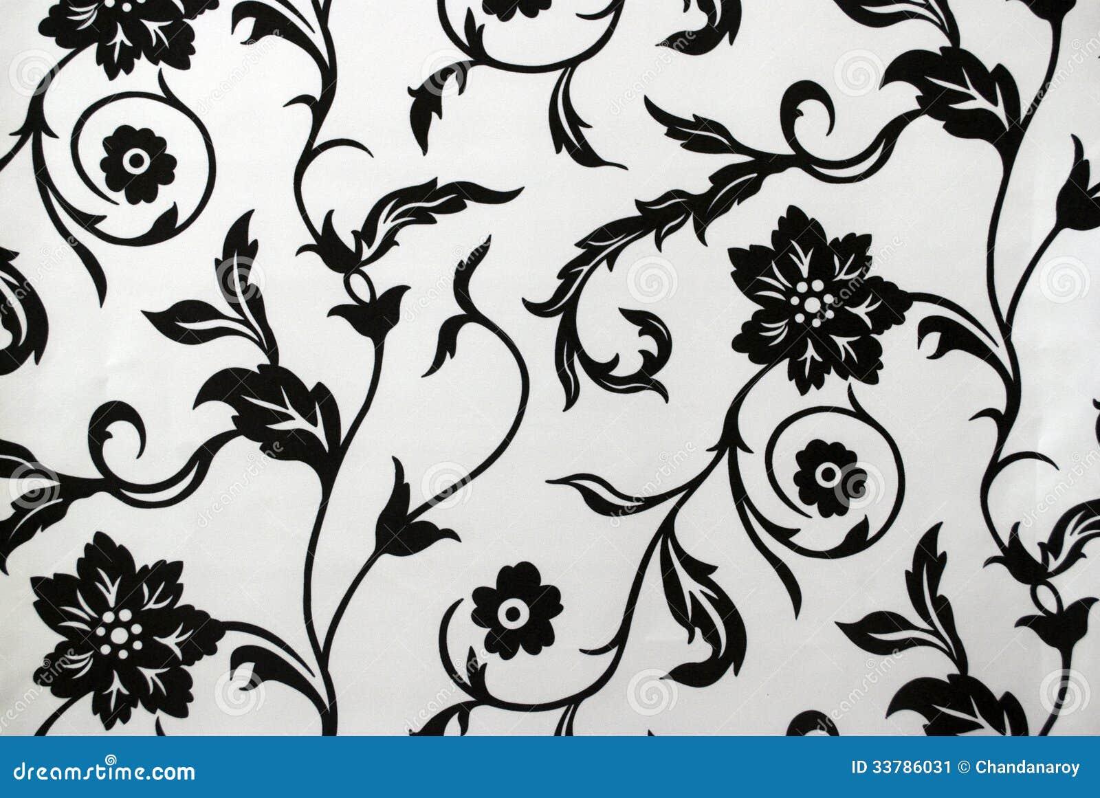 Modele De Papier Peint De Vintage En Noir Et Blanc Image Stock