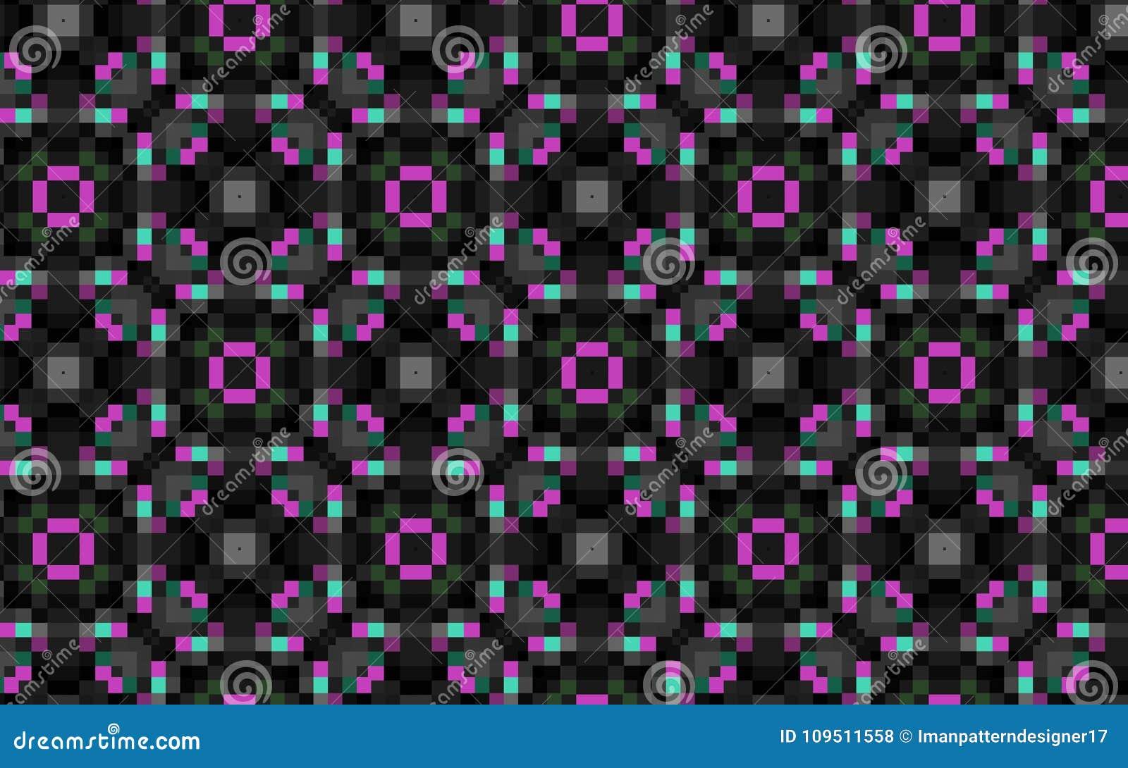 Modèle D Art De Pixel Dirigez Le Modèle Sans Couture Des