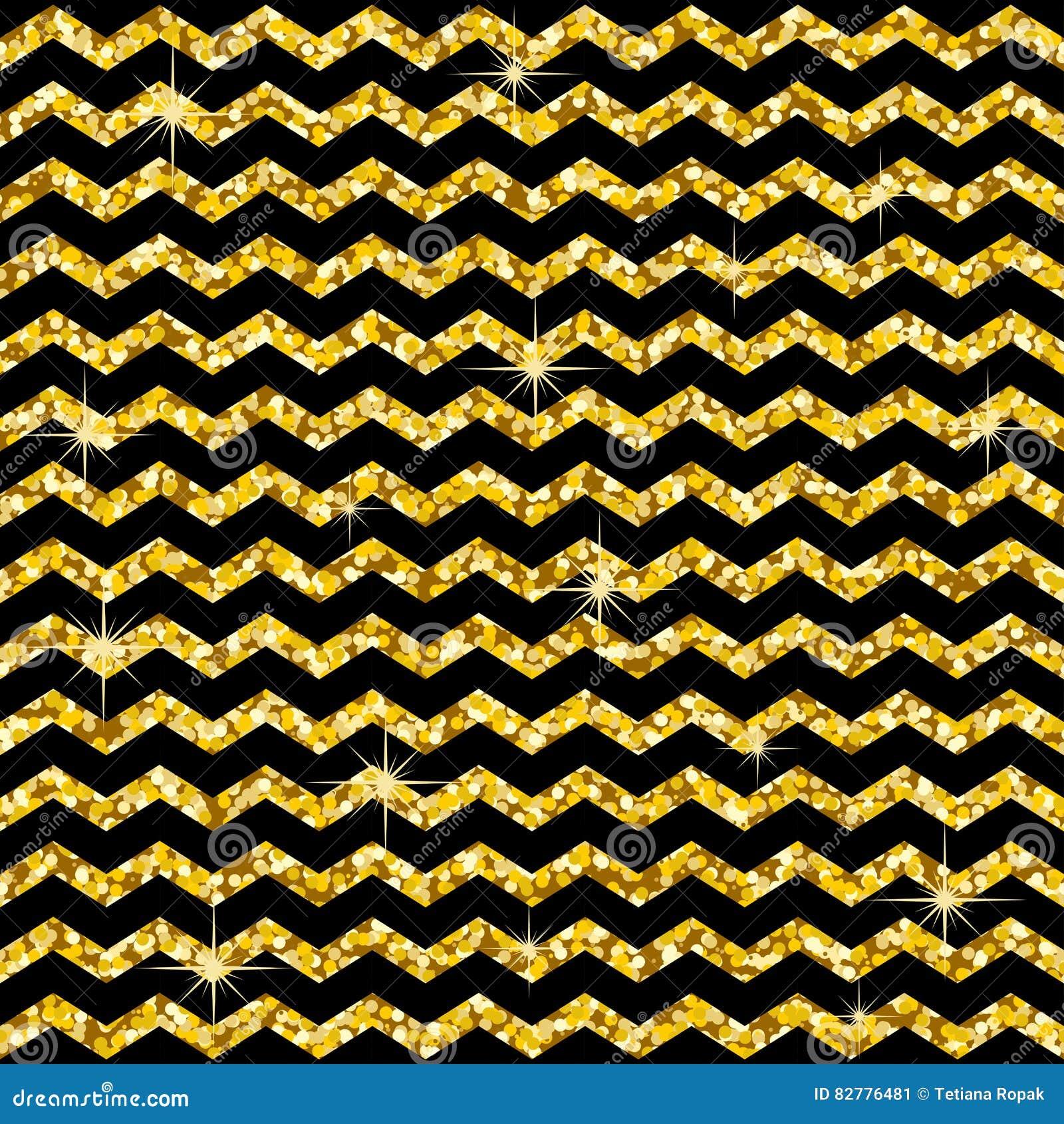 Modèle dans le zigzag Modèle classique de scintillement d or de chevron Cercles d or Texture géométrique abstraite Rétro décorati