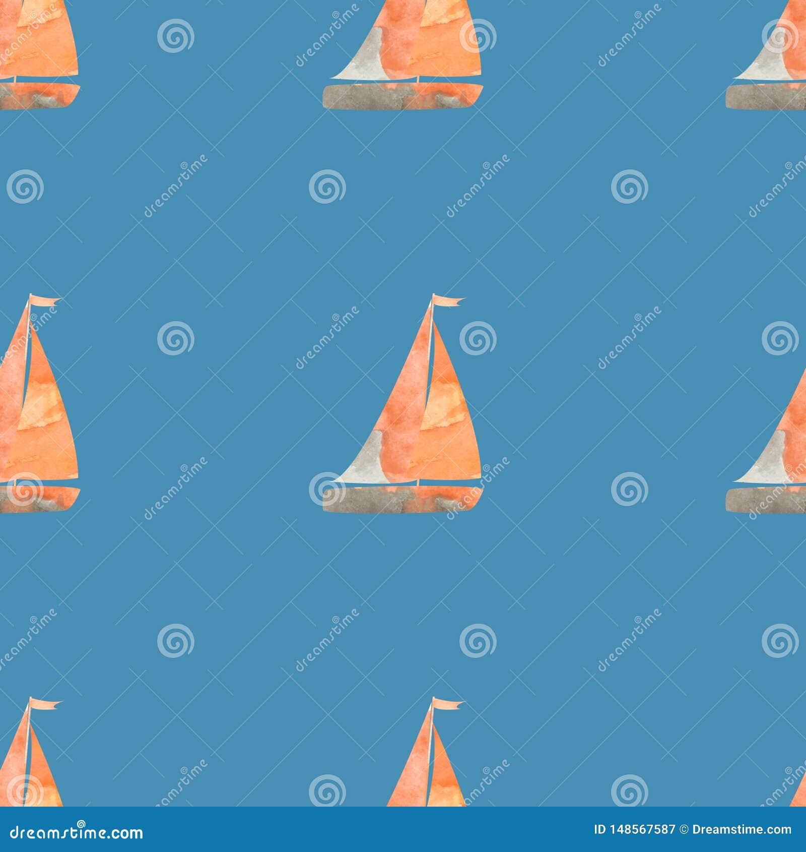 Mod?le de bateaux ? voile d aquarelle