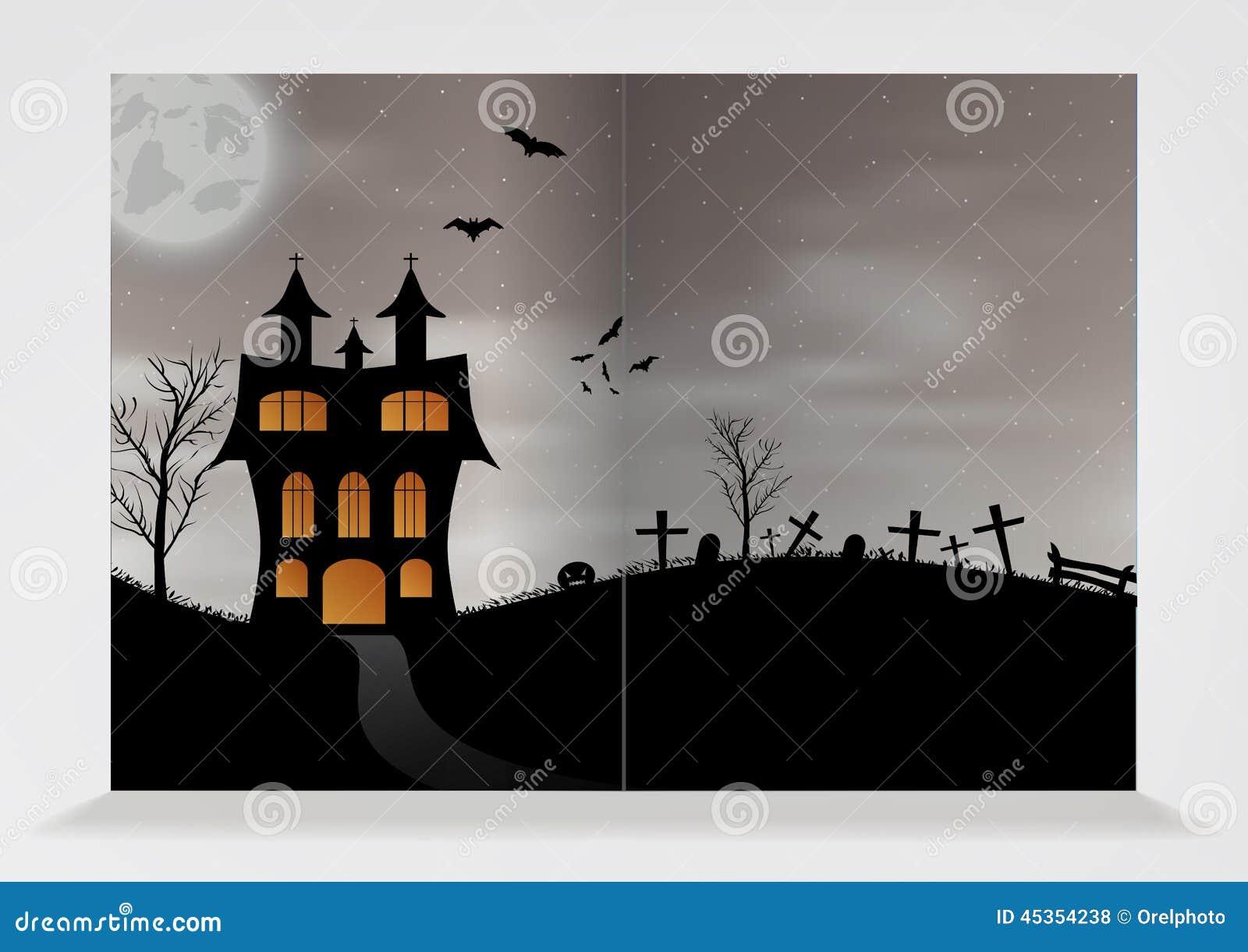 Modèle de brochure vide pour Halloween