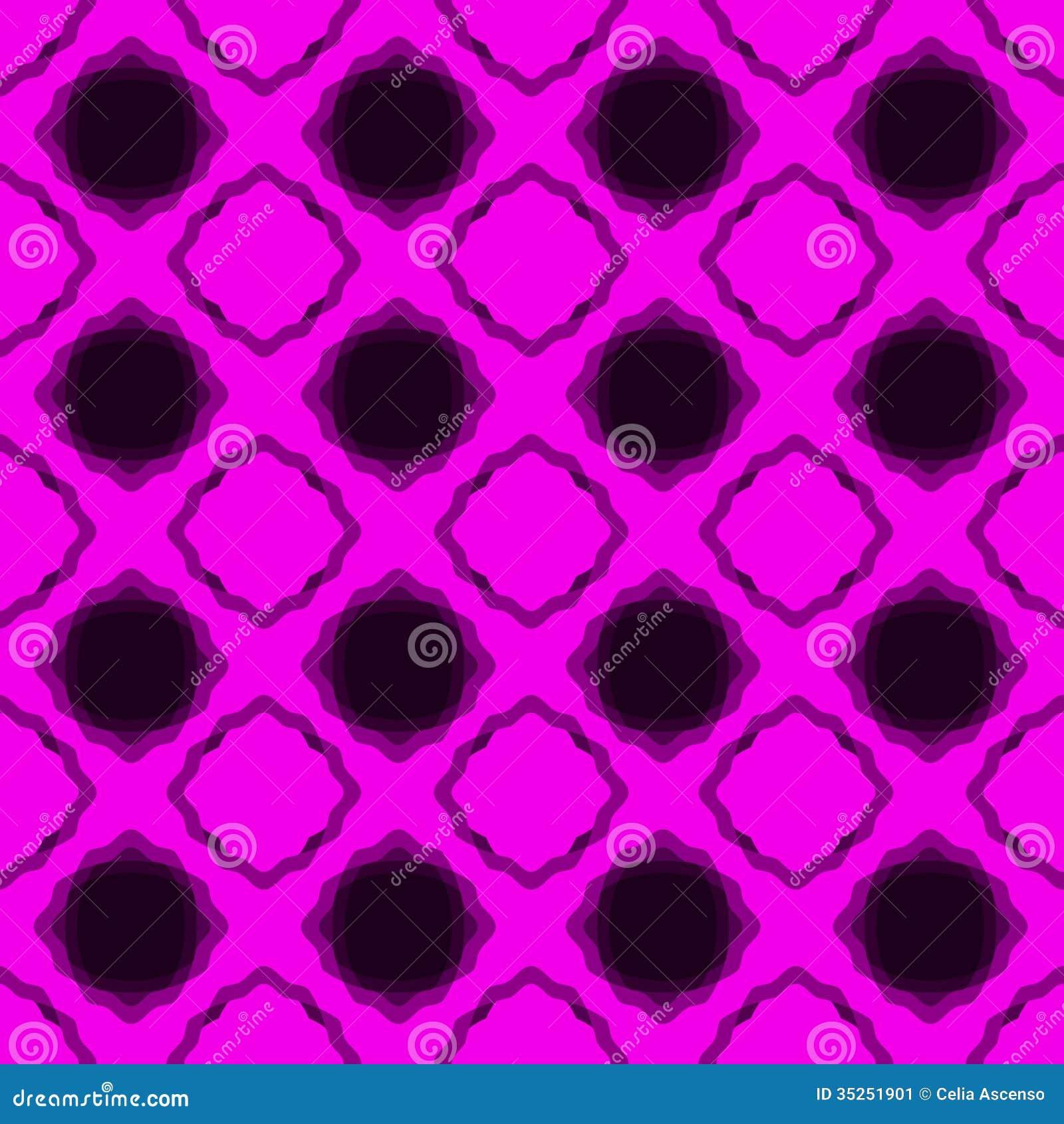 Modèle de dentelle rose sans couture de backgound de diamants