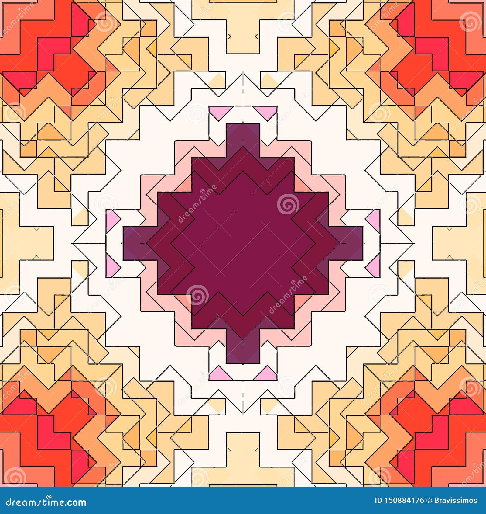 Modèle de fond d abrégé sur mosaïque souillé, graphique de forme