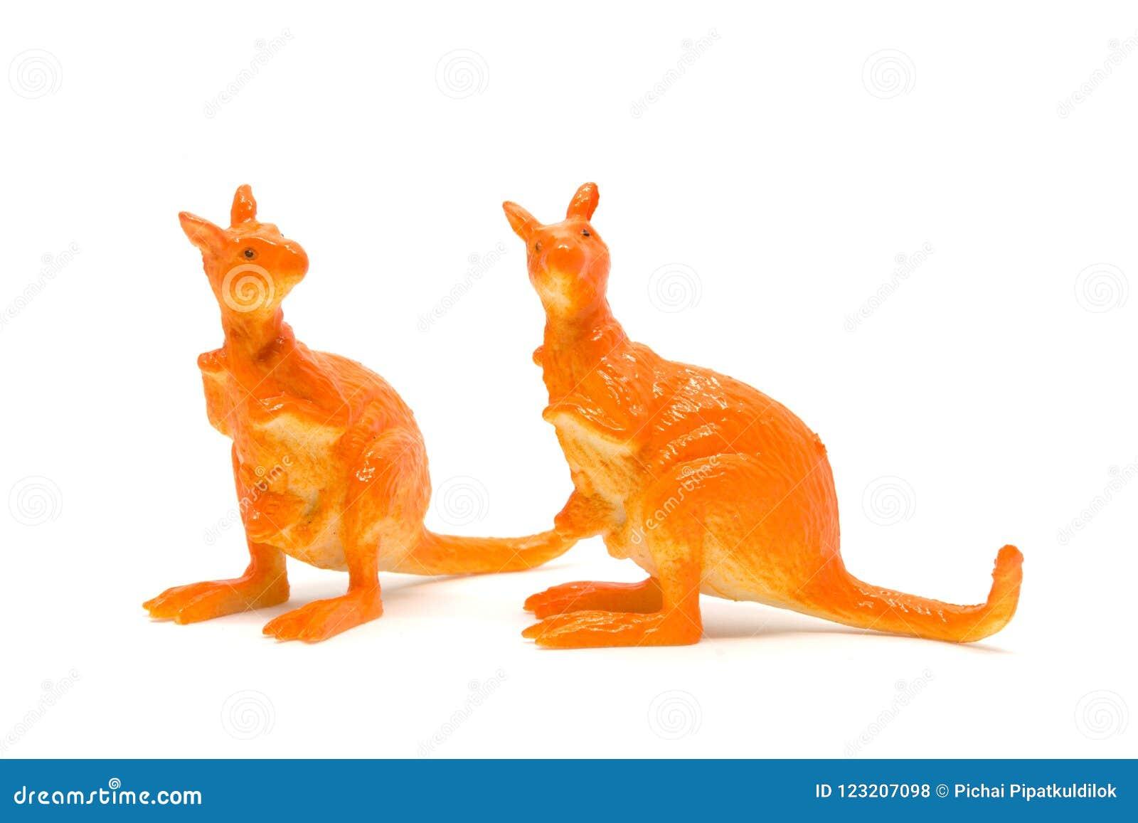 Animaux En Plastique Jouet modèle de kangourou d'isolement sur le fond blanc, plastique