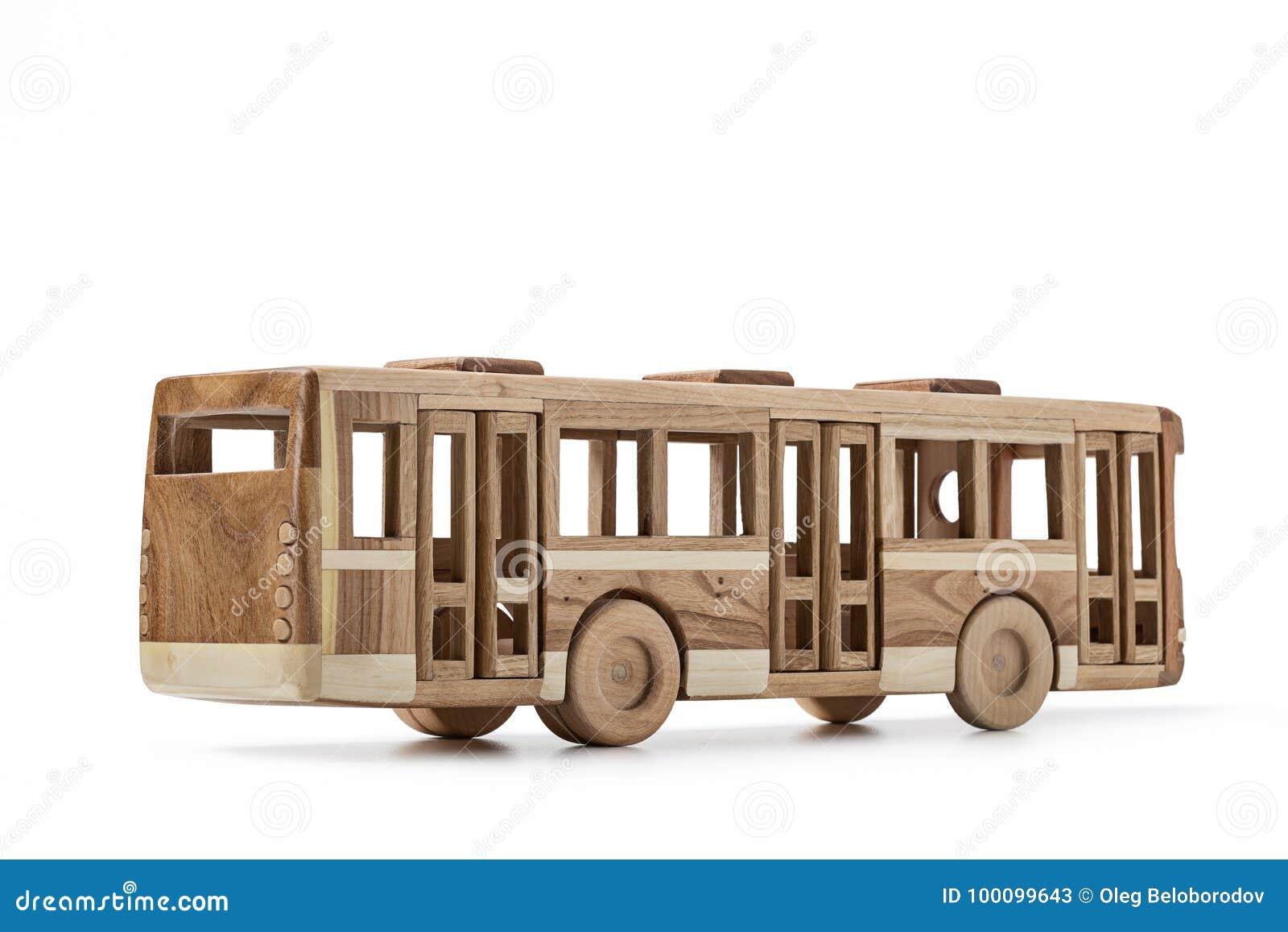 Jouet grand autocar en bois   Selency