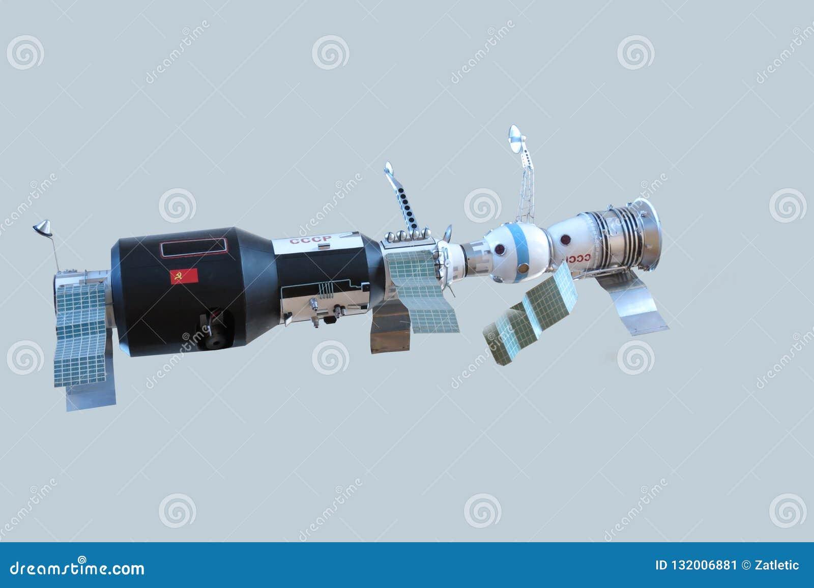 Modèle de la station orbitale soviétique, vaisseau spatial Soyuz