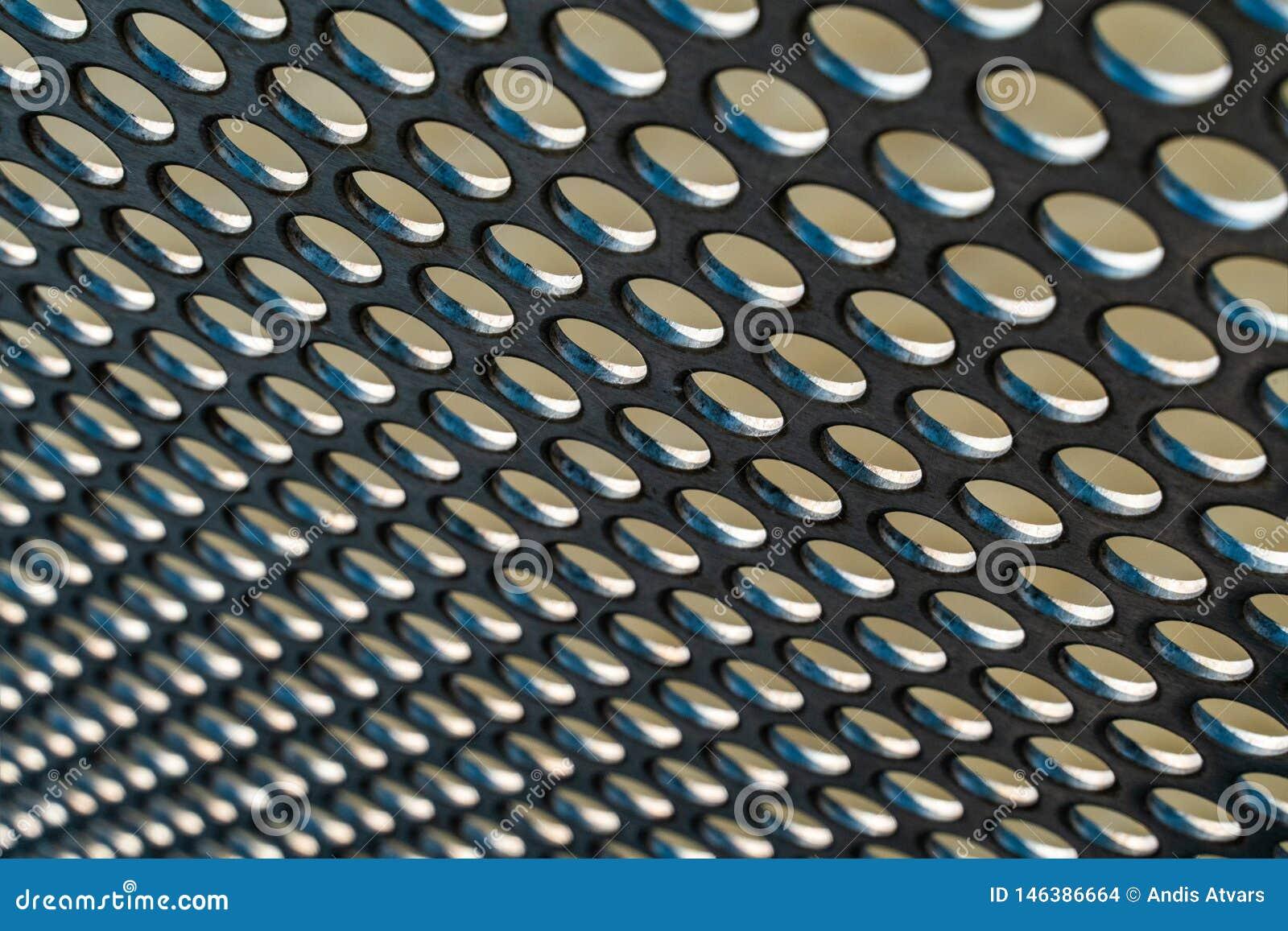 Modèle de maille de trou en métal avec avec la profondeur du fond de foyer