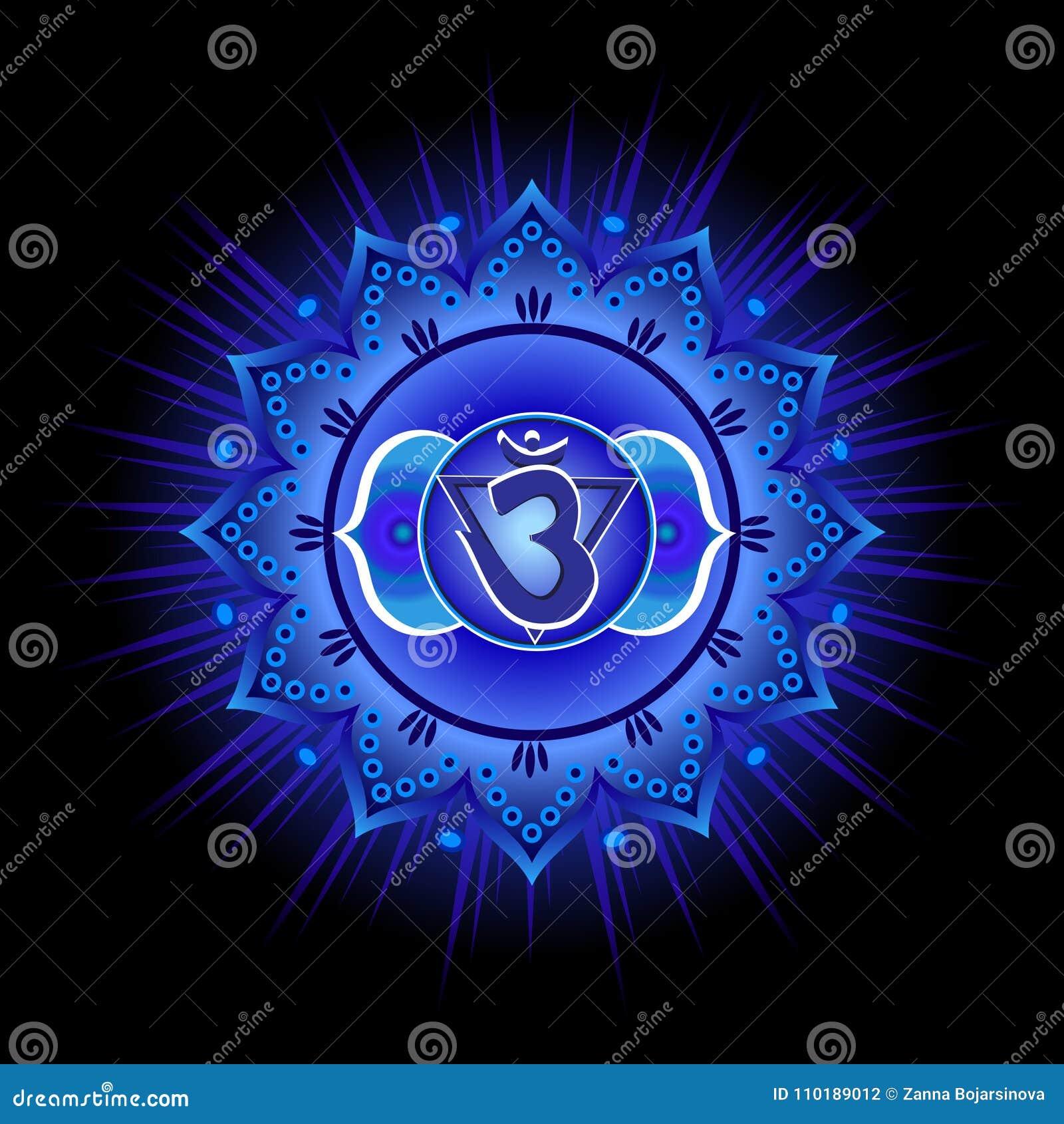 Mod le de mandala de cercle chakra d 39 ajna illustration de - Modele de mandala ...