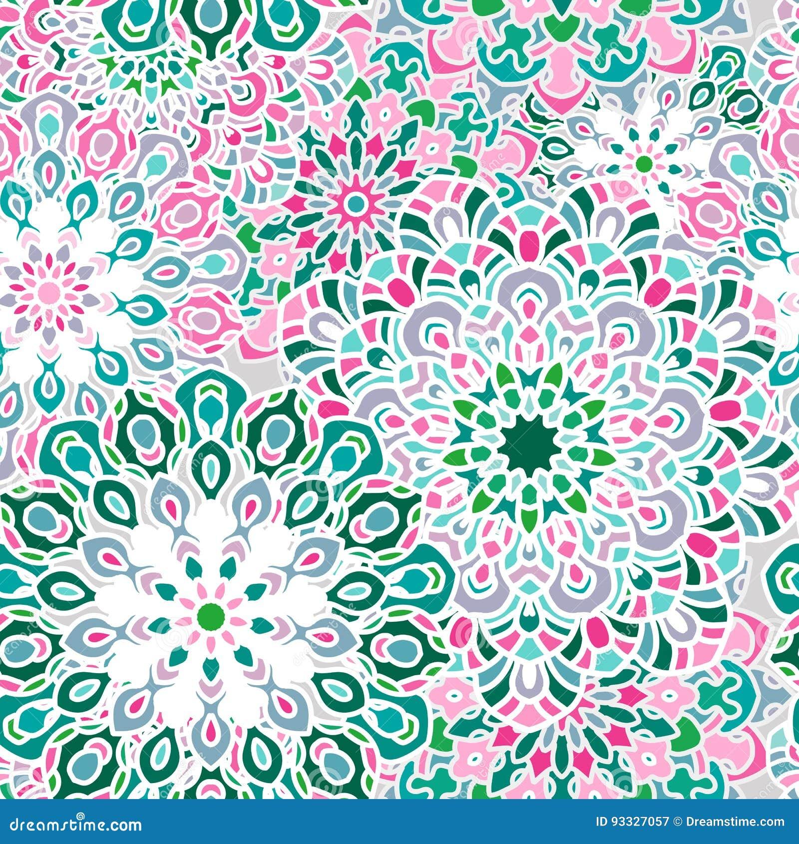 Modèle De Mandala Pour Imprimer Sur Le Tissu Ou Le Papier Illustration Stock - Illustration du ...