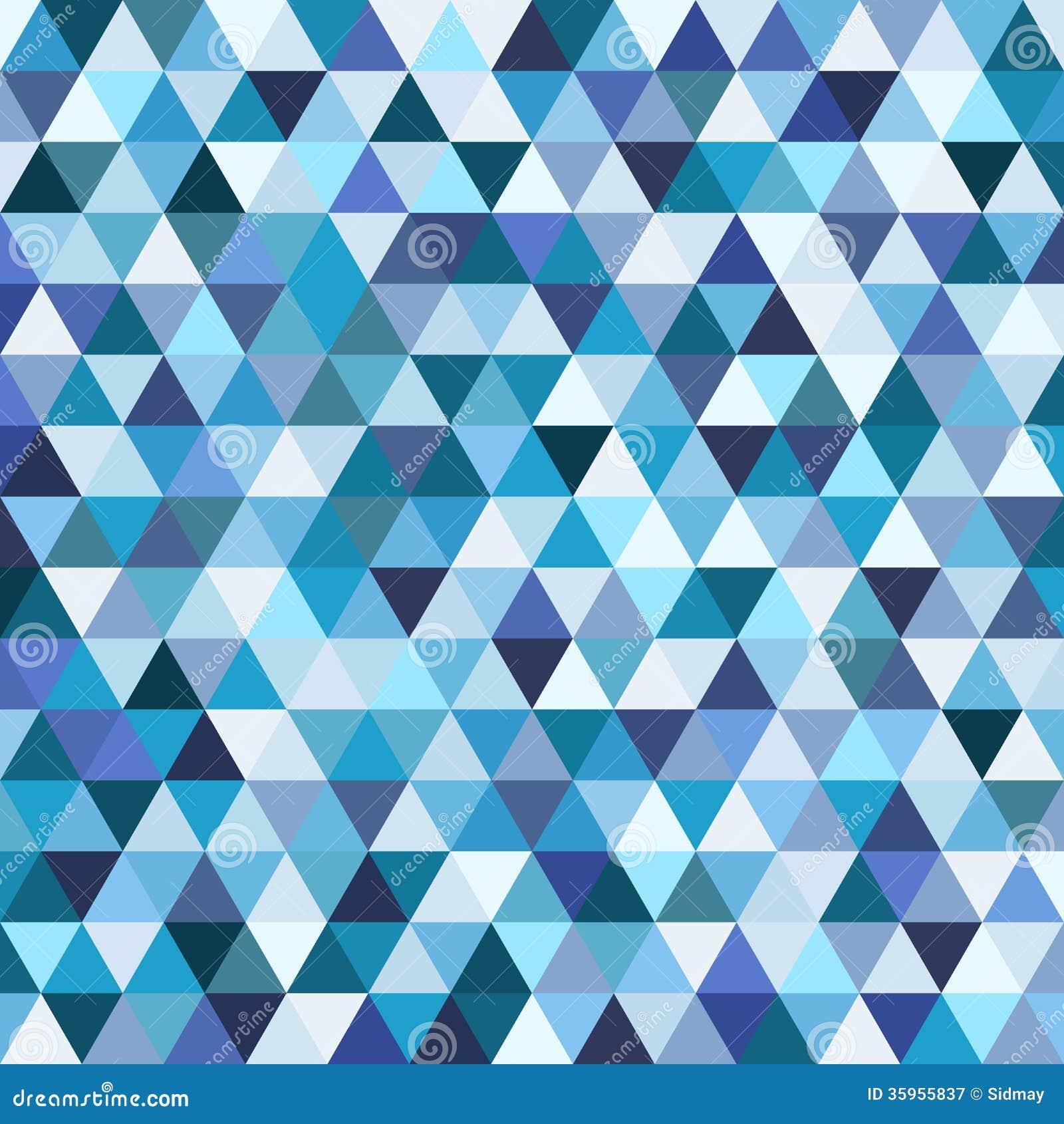Modèle de mosaïque géométrique de triangle bleue