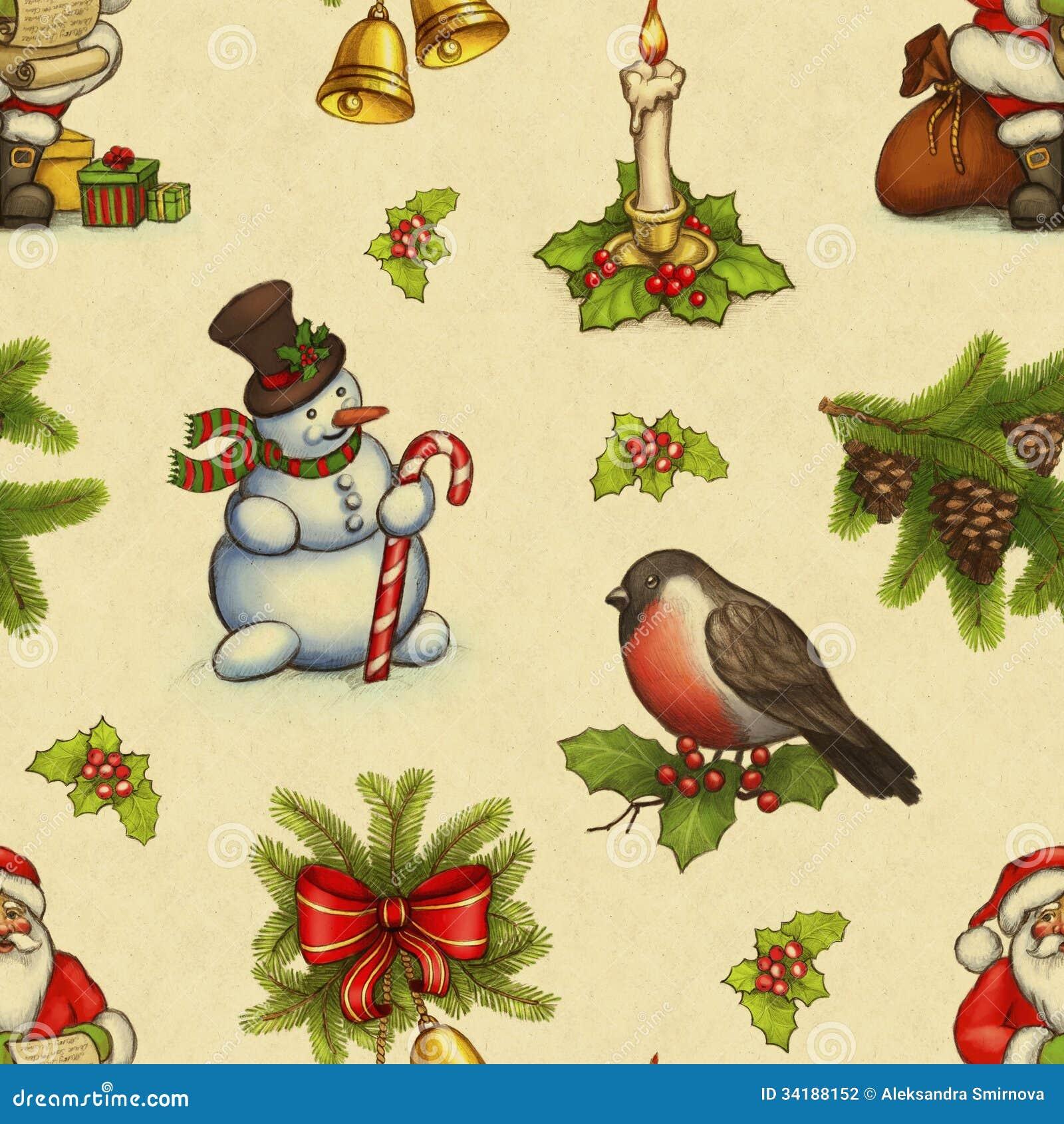 Modèle de Noël de vintage
