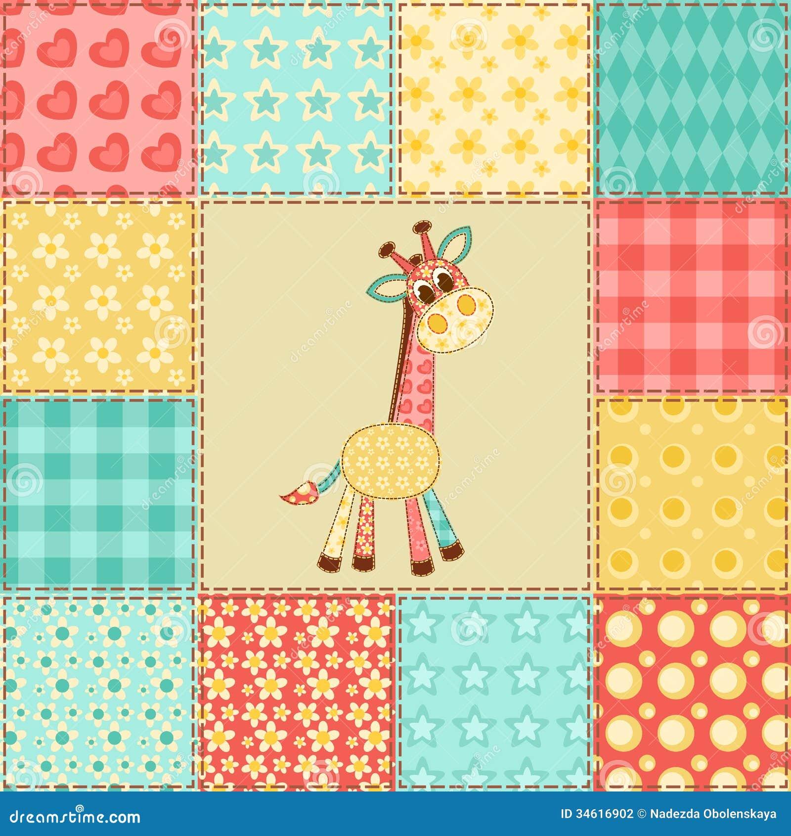 mod le de patchwork de girafe photographie stock image 34616902. Black Bedroom Furniture Sets. Home Design Ideas
