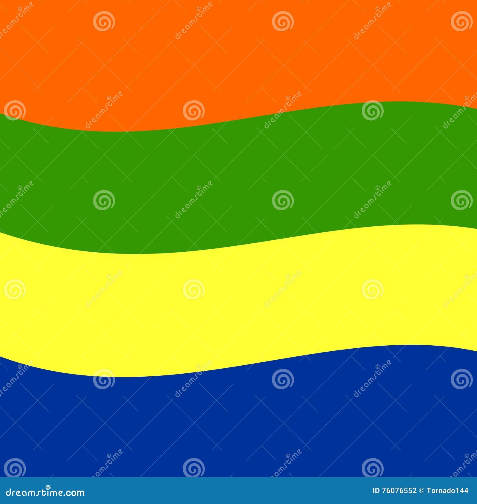 Modèle de vague multicolore