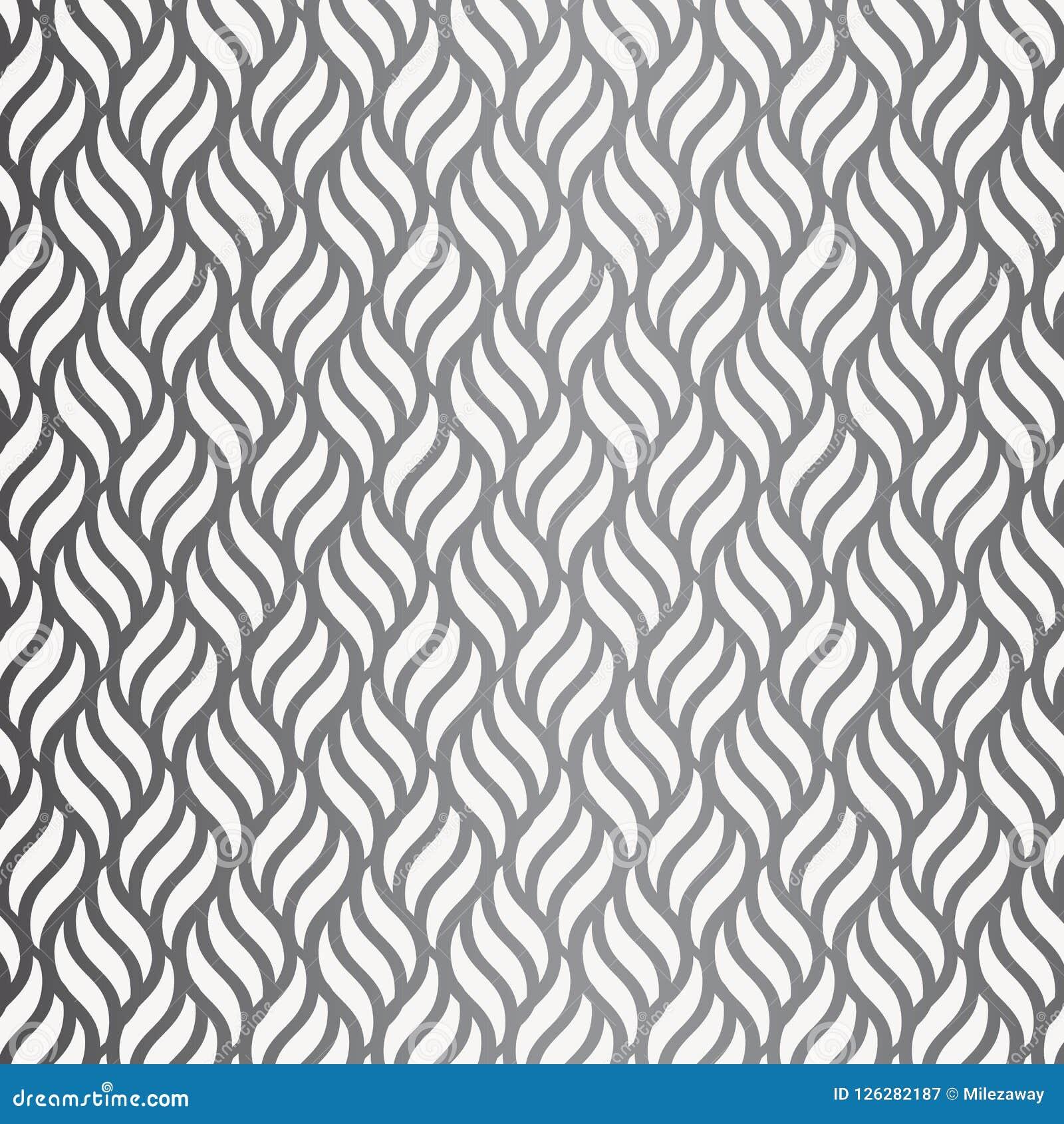 Modèle de vecteur avec les vagues géométriques Texture élégante sans fin Fond de monochrome d ondulation