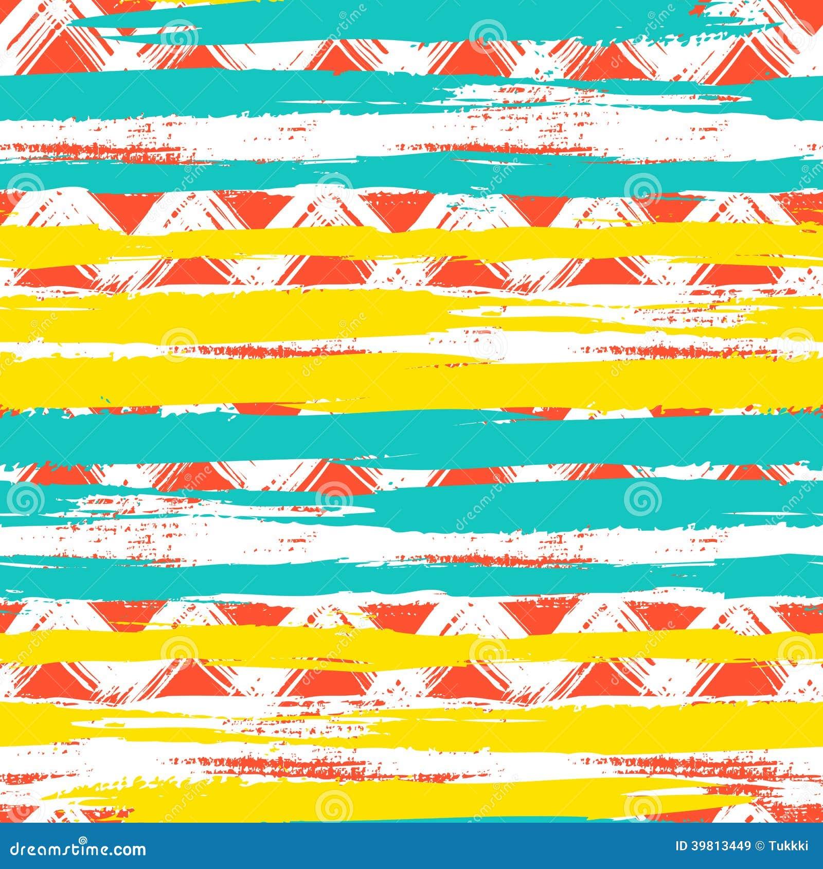 Modèle de zigzag ethnique sans couture avec des traçages