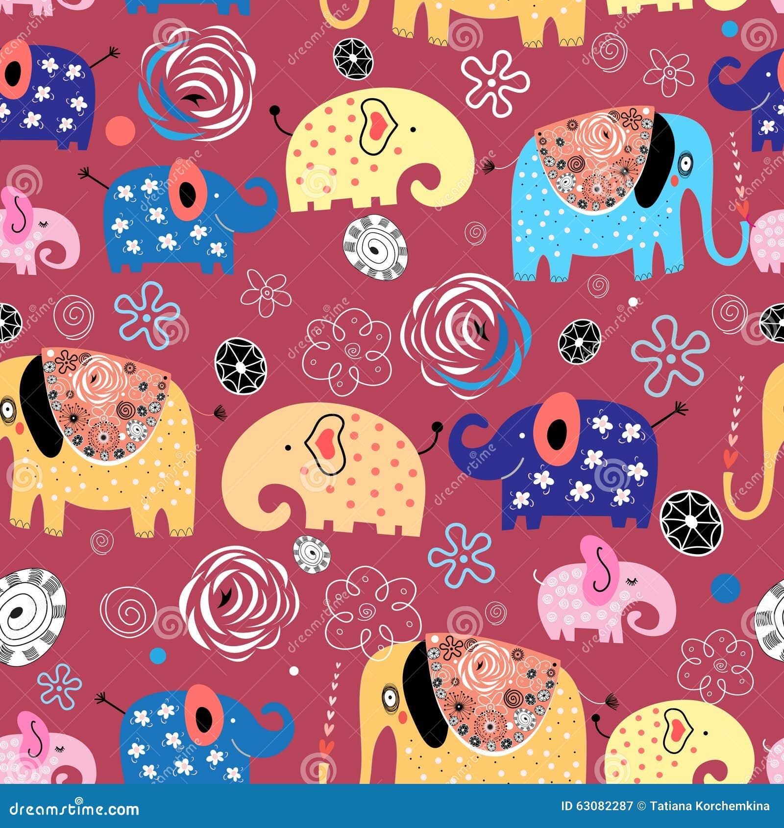 Download Modèle Des éléphants Dans Les Nuages Illustration de Vecteur - Illustration du miracle, mode: 63082287