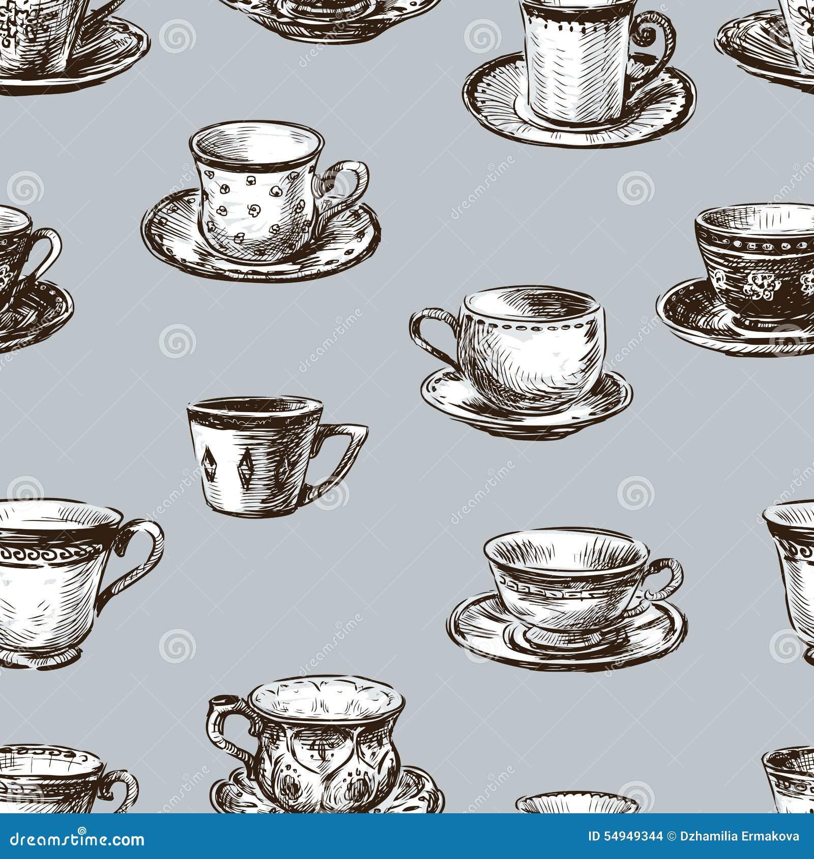 Modèle des tasses de thé