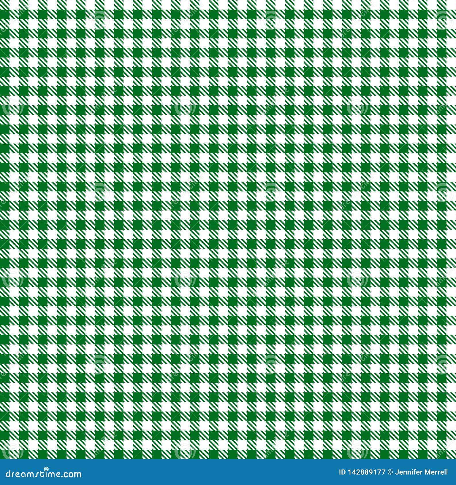 Modèle du jour de St Patrick sans couture de guingan