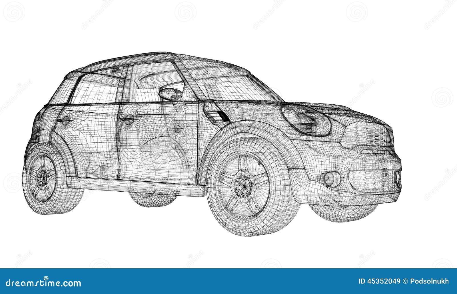 Modèle du véhicule 3D