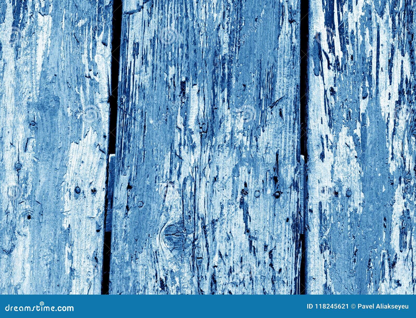 modèle en bois grunge de barrière dans la couleur de bleu marine