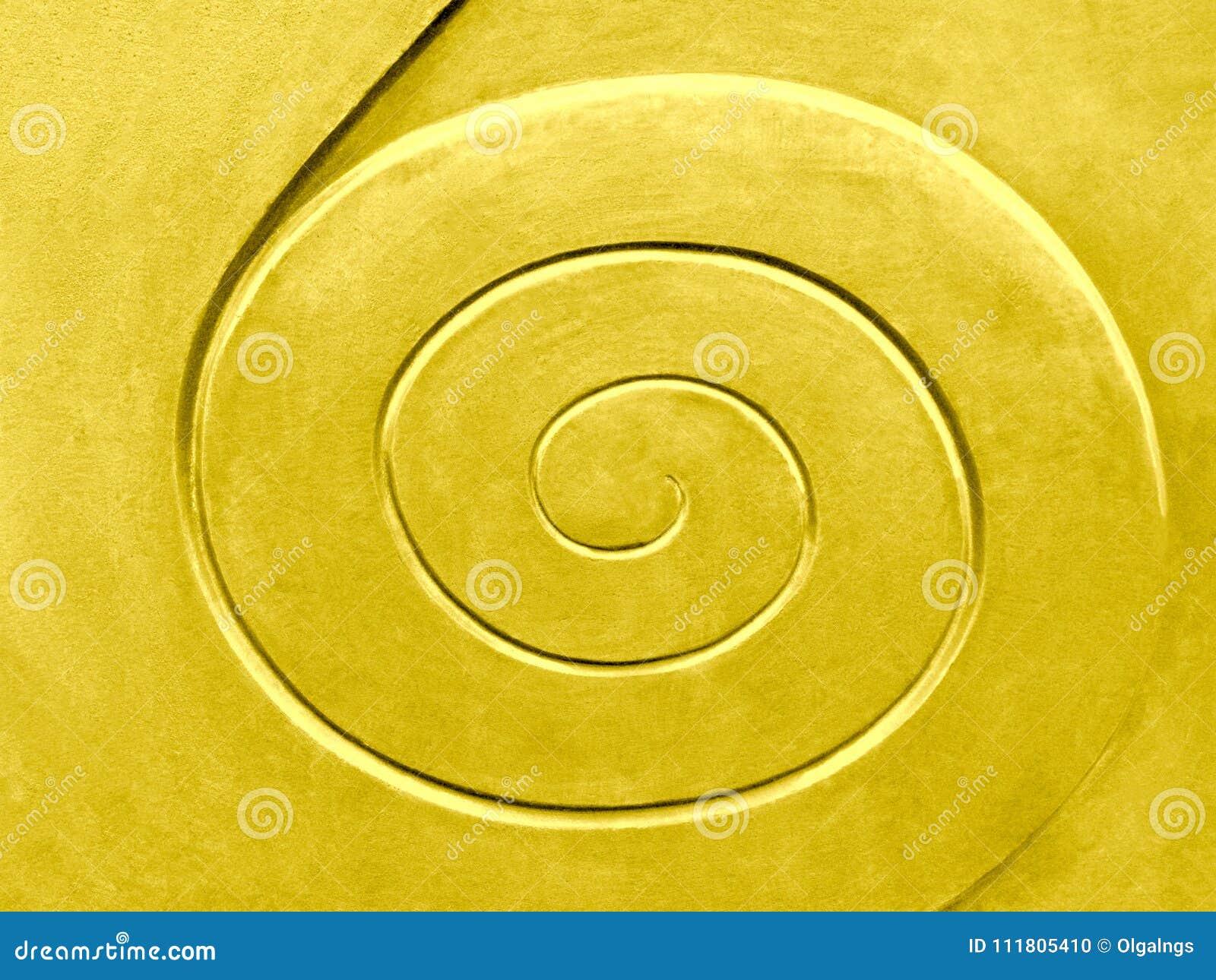 Modèle en spirale, d or coloré