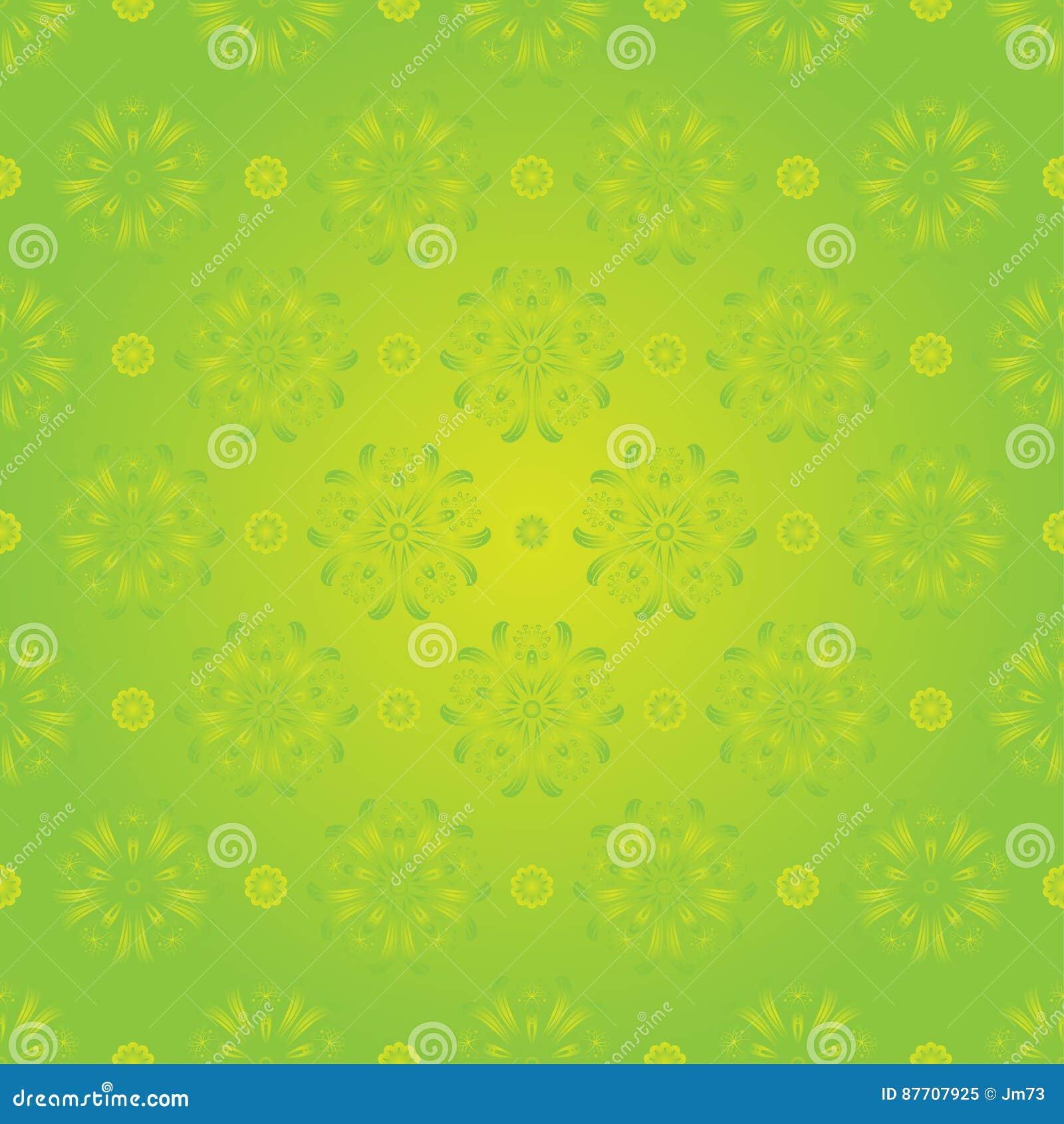 Modèle floral de ressort sans couture sur le fond vert