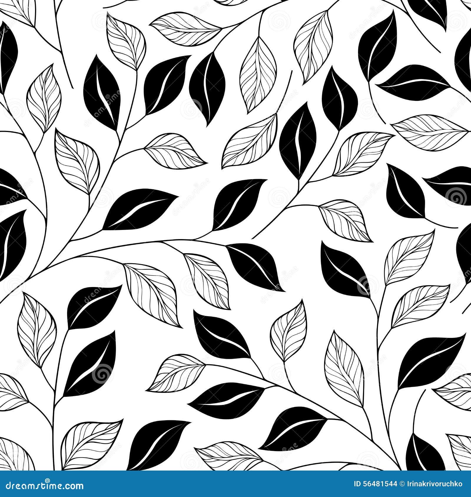 Download Modèle Floral Monochrome Sans Couture (vecteur) Illustration de Vecteur - Illustration du fleur, floral: 56481544