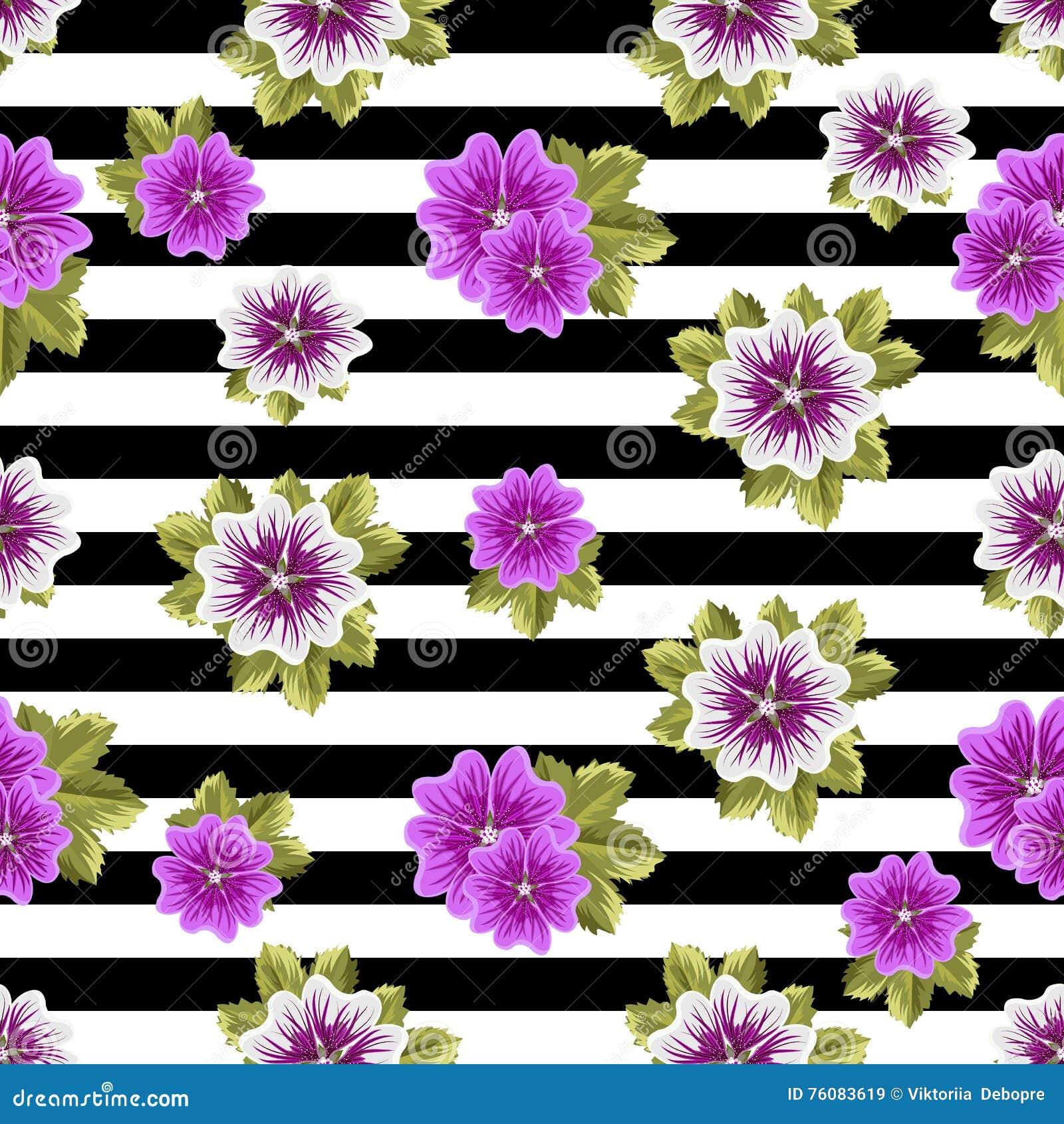 Modèle floral sans couture avec des mauves