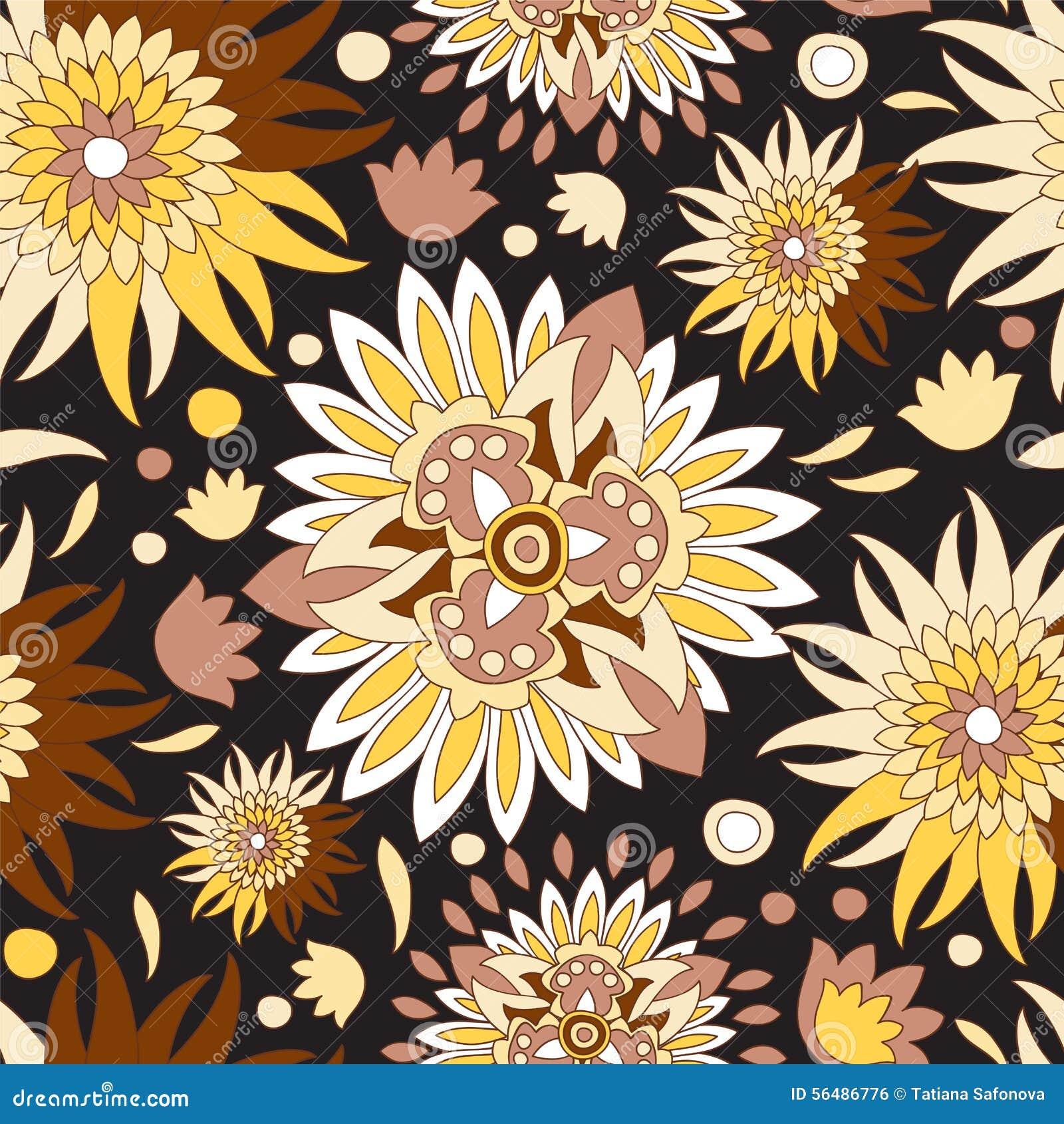 Modèle floral sans couture de la Russie conception de Slaves Illustration