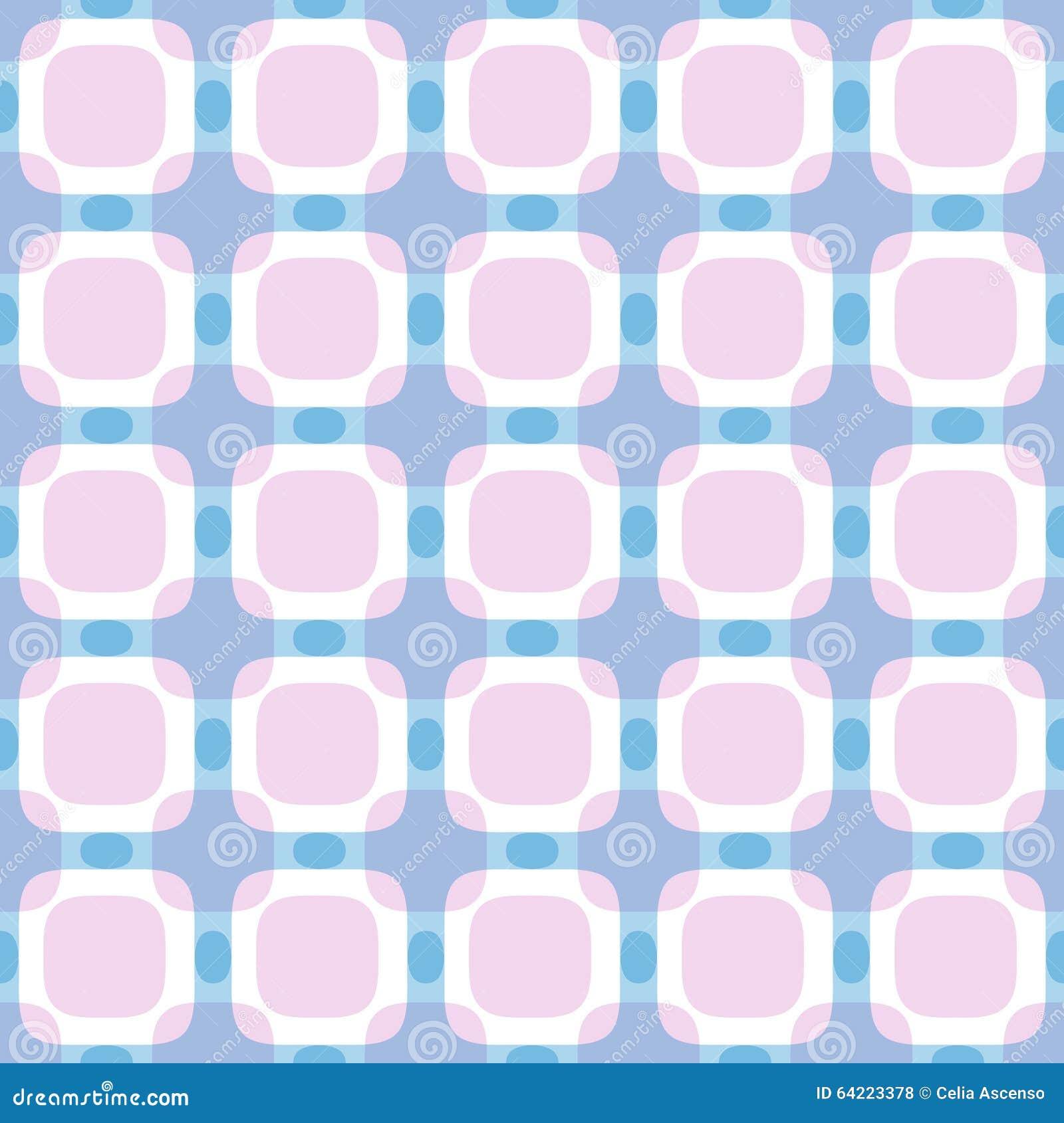 Modèle géométrique abstrait carré sans couture
