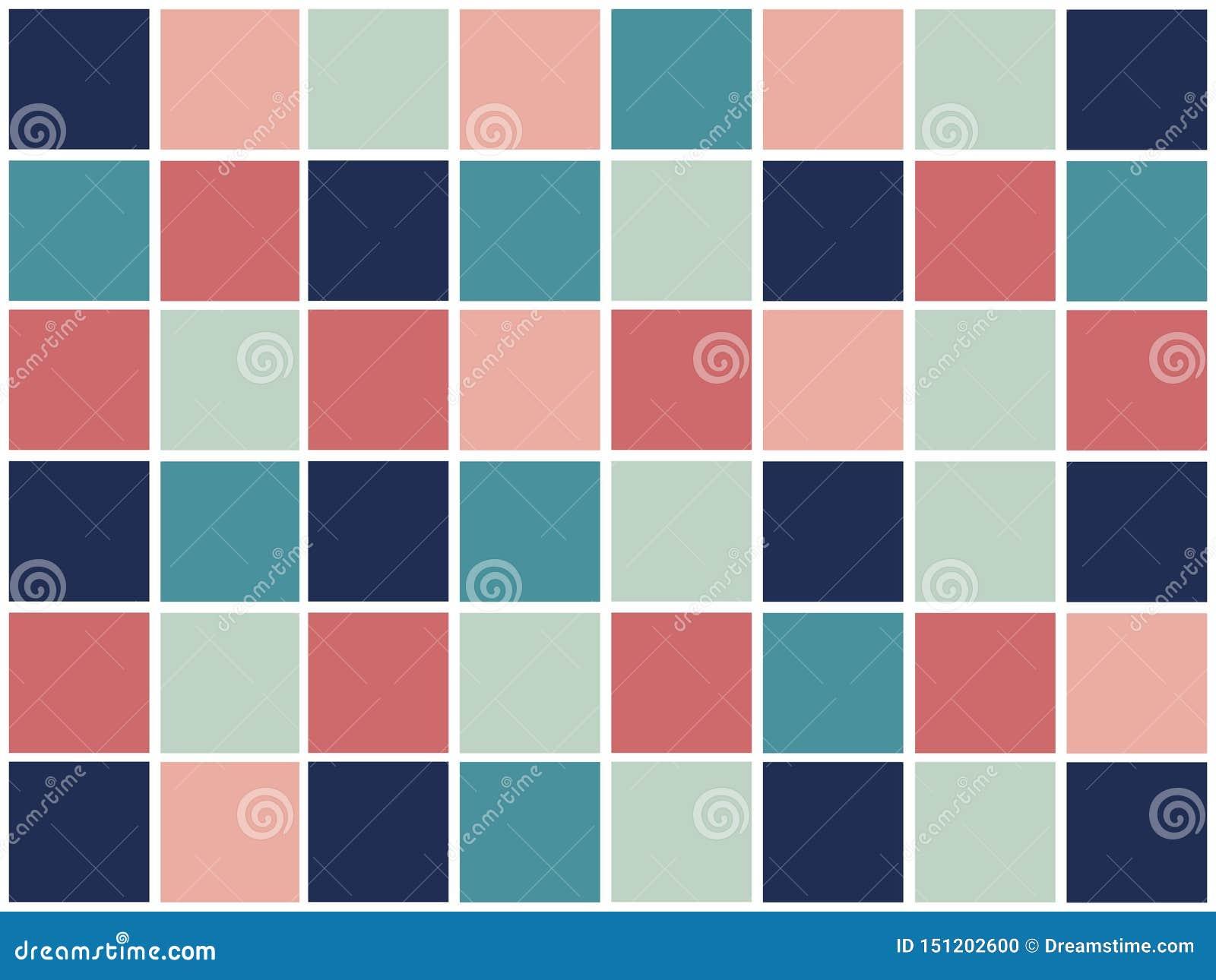 Modèle géométrique abstrait coloré avec des places