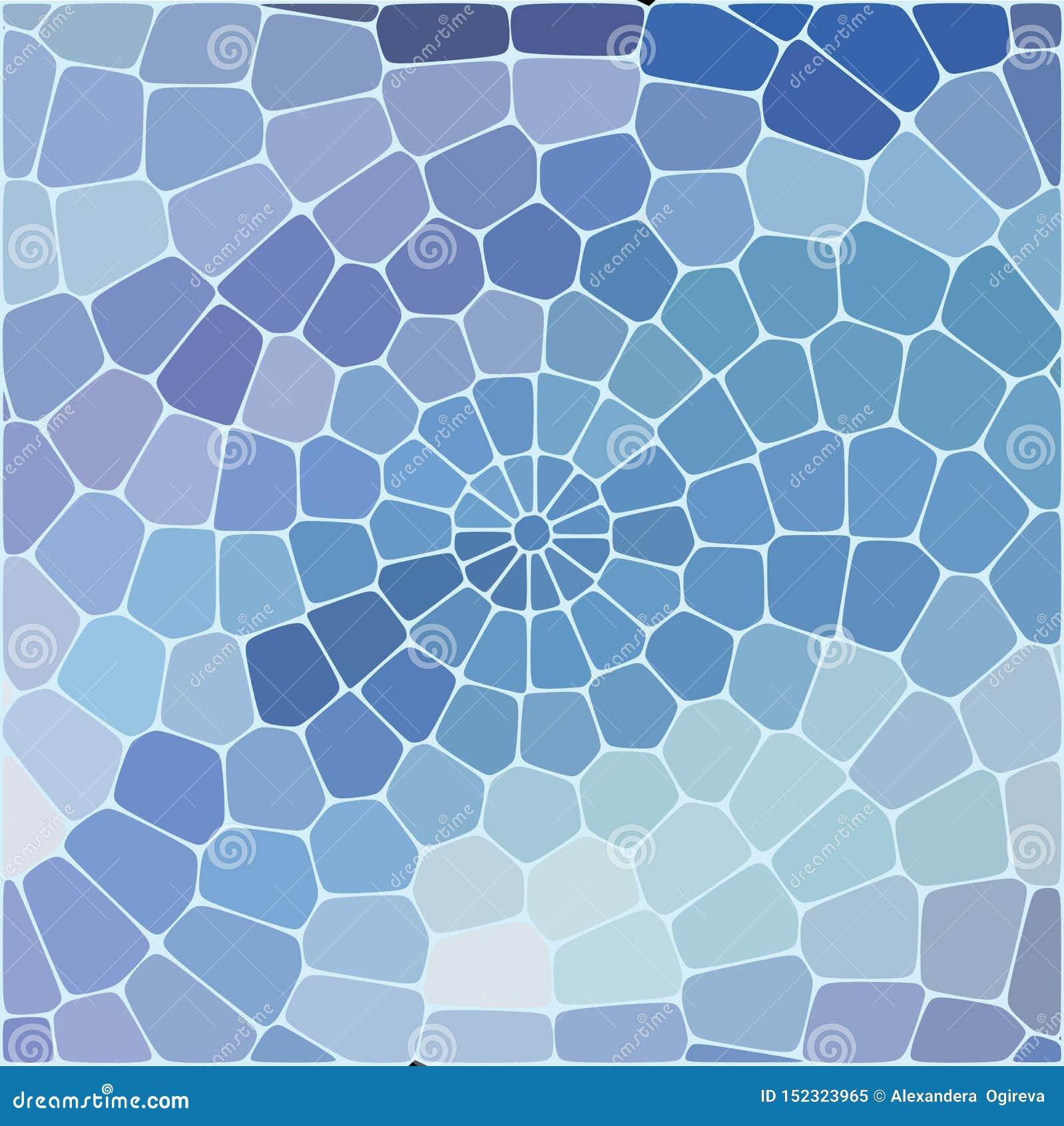 Modèle géométrique abstrait des places bleues sur le fond blanc